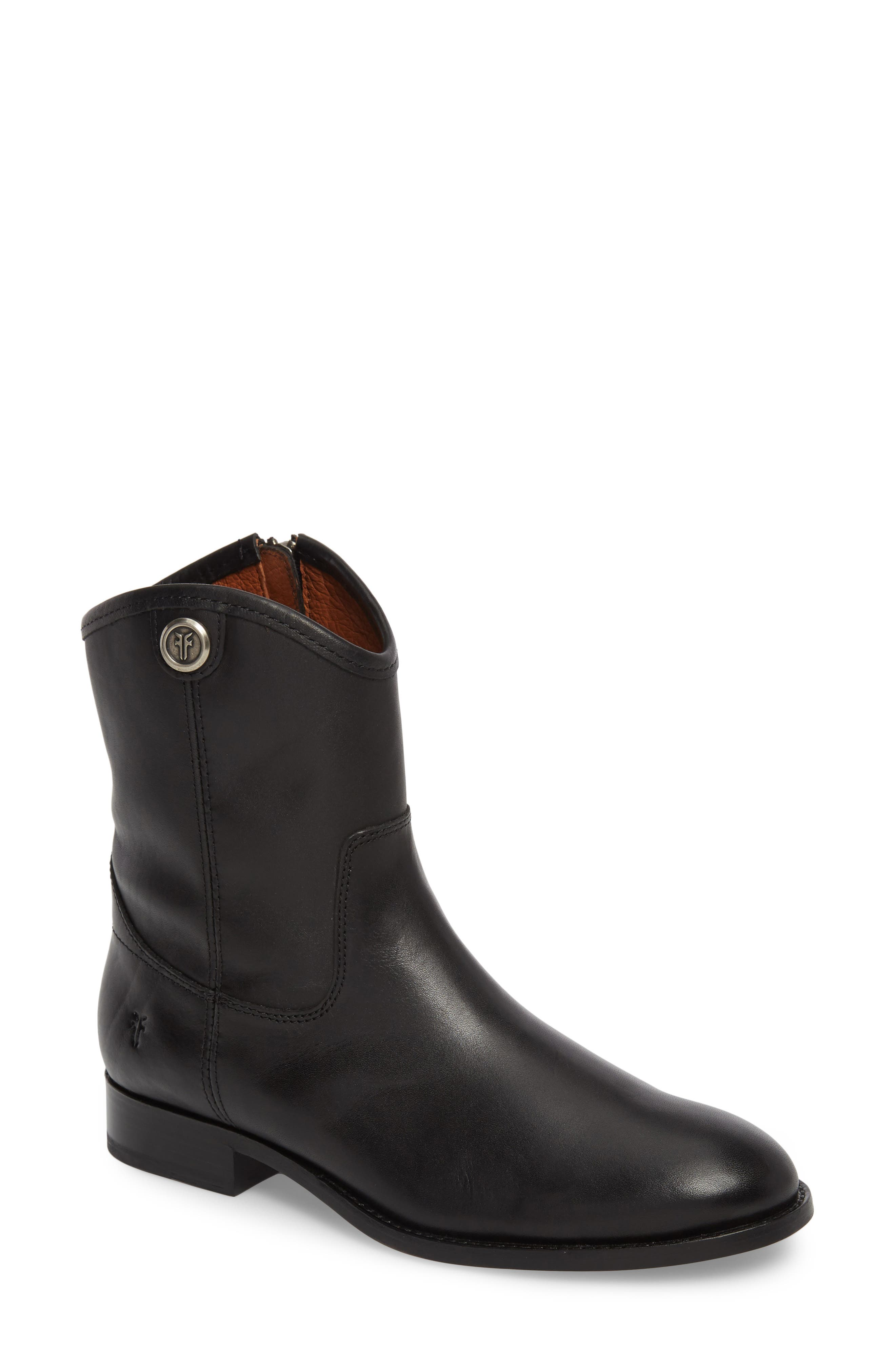Melissa Short 2 Boot,                         Main,                         color, BLACK LEATHER