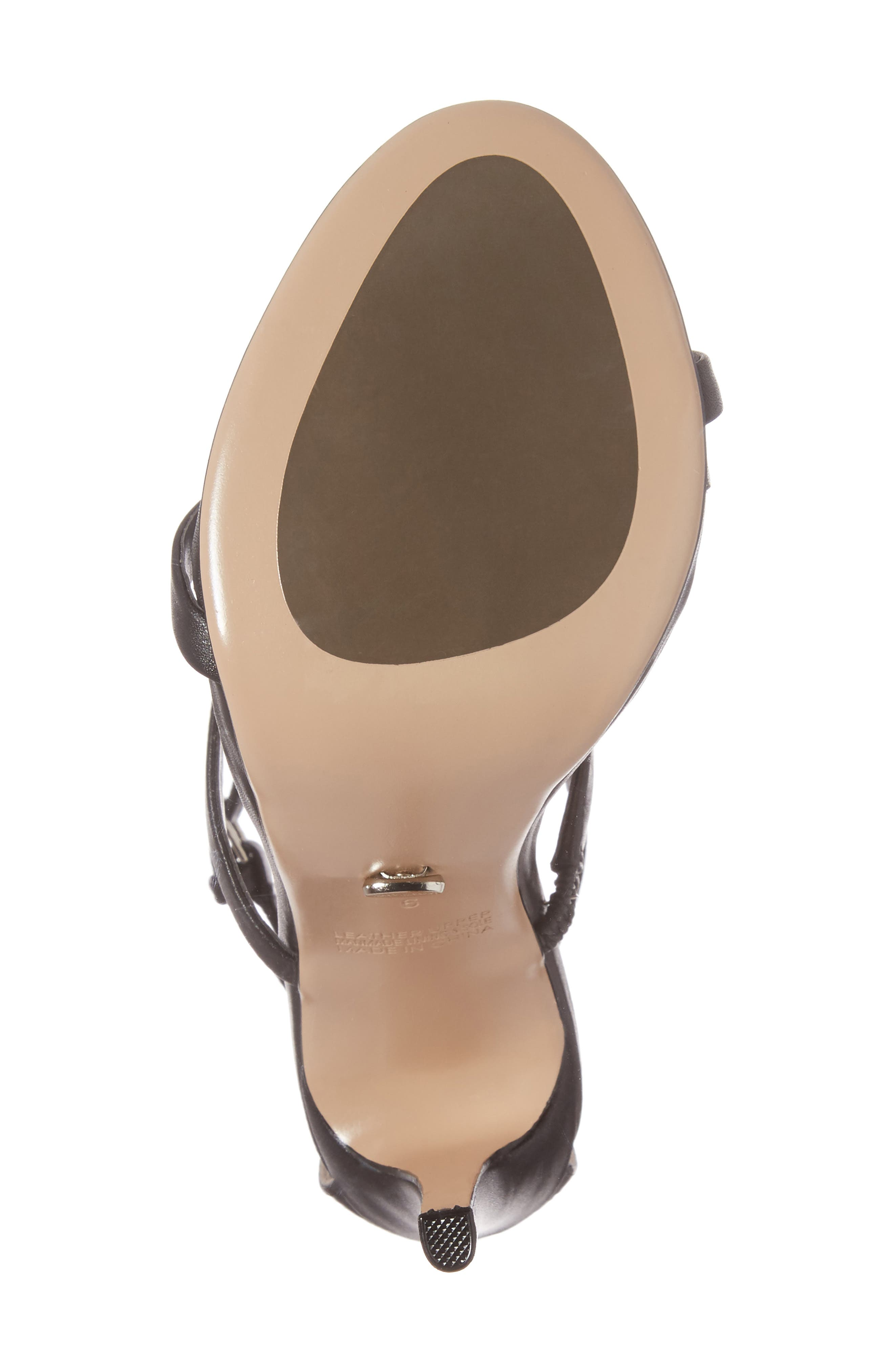 Atkins Sandal,                             Alternate thumbnail 6, color,                             BLACK CAPRETTO LEATHER