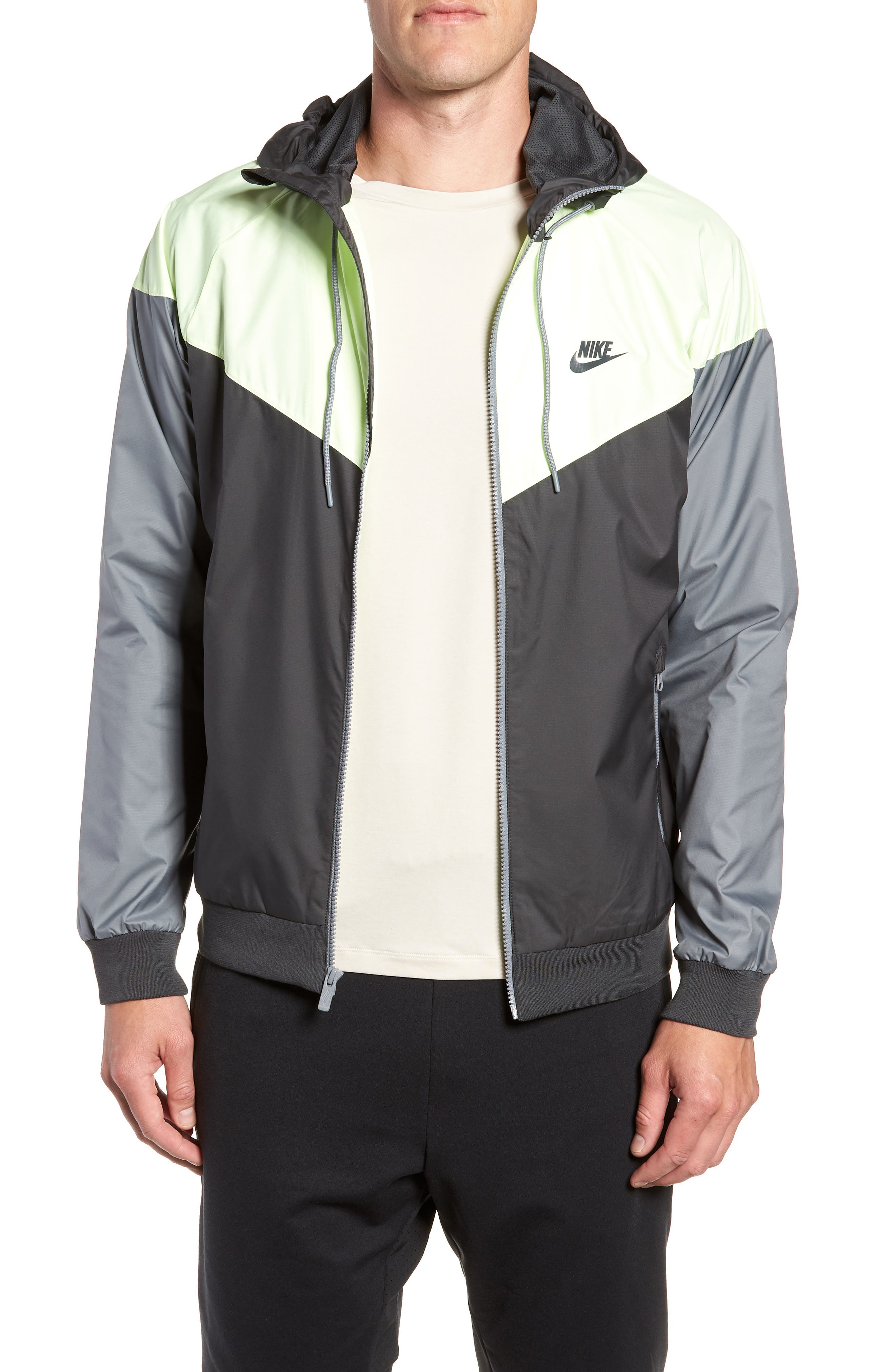 'Windrunner' Colorblock Jacket,                             Main thumbnail 1, color,                             ANTHRACITE/ BARELY VOLT