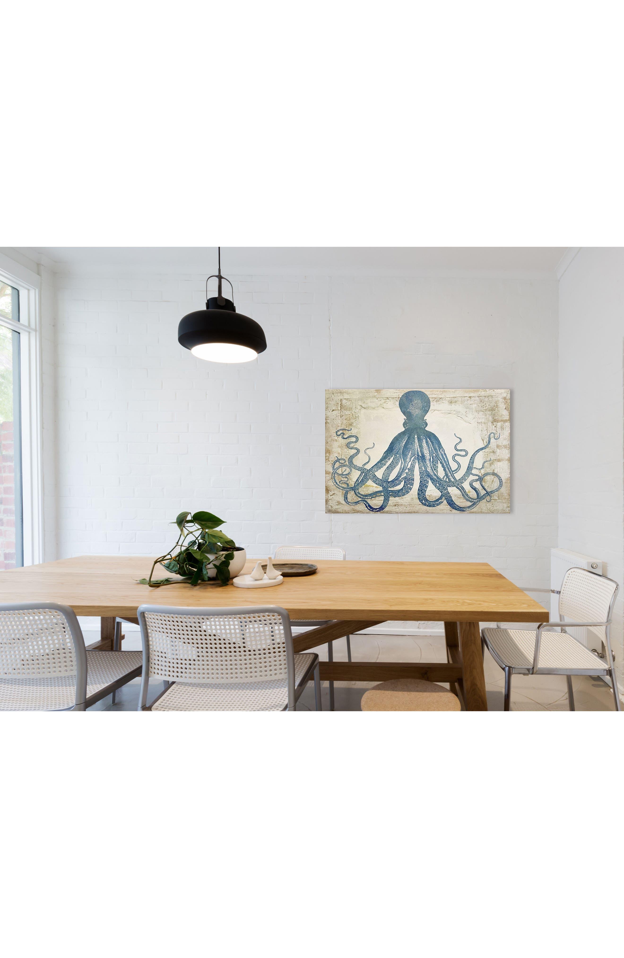 Wynwood Blue Squid Canvas Wall Art,                             Alternate thumbnail 2, color,                             250