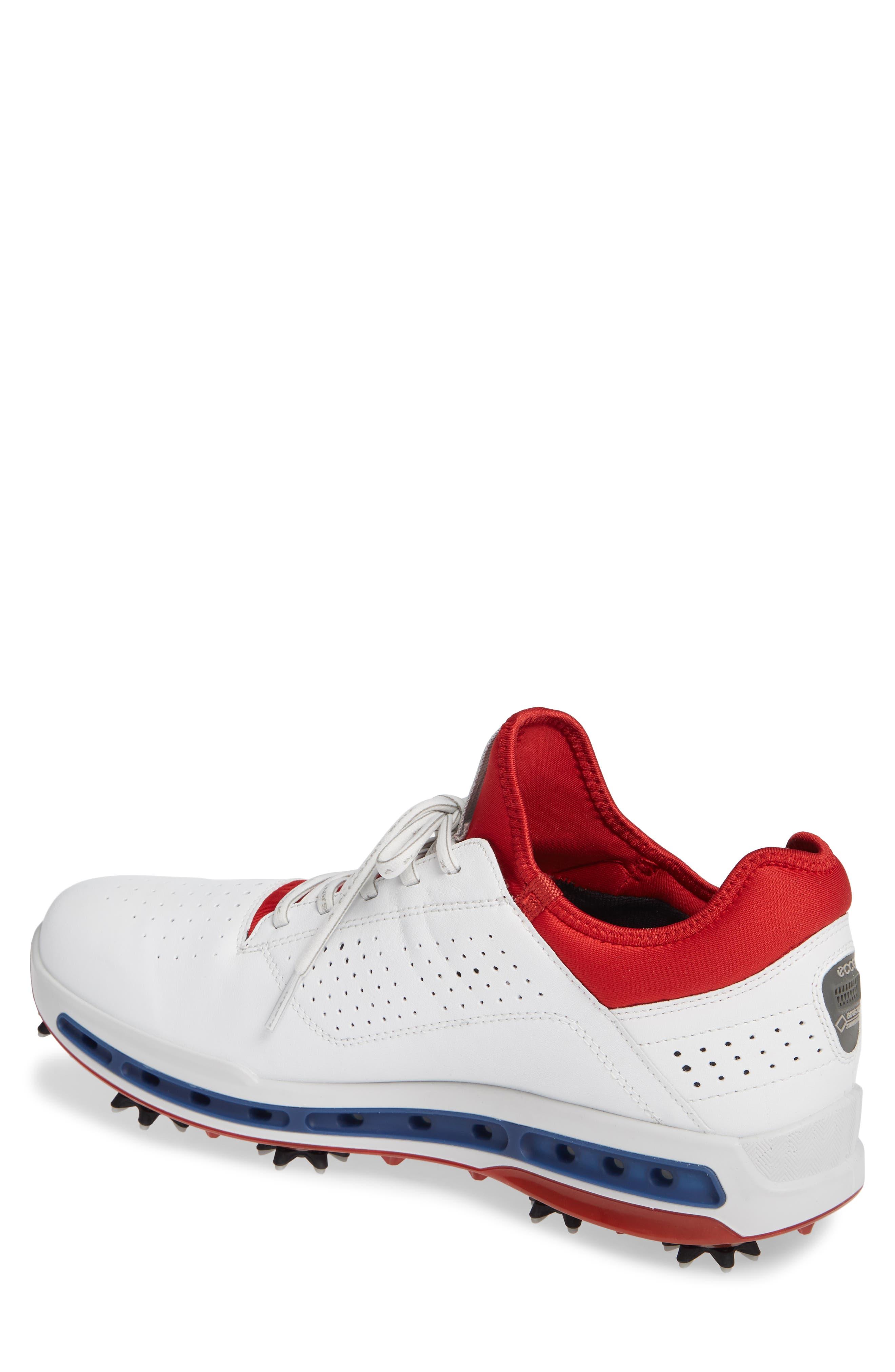 Cool 18 Gore-Tex Golf Shoe,                             Alternate thumbnail 2, color,                             WHITE/ TOMATO