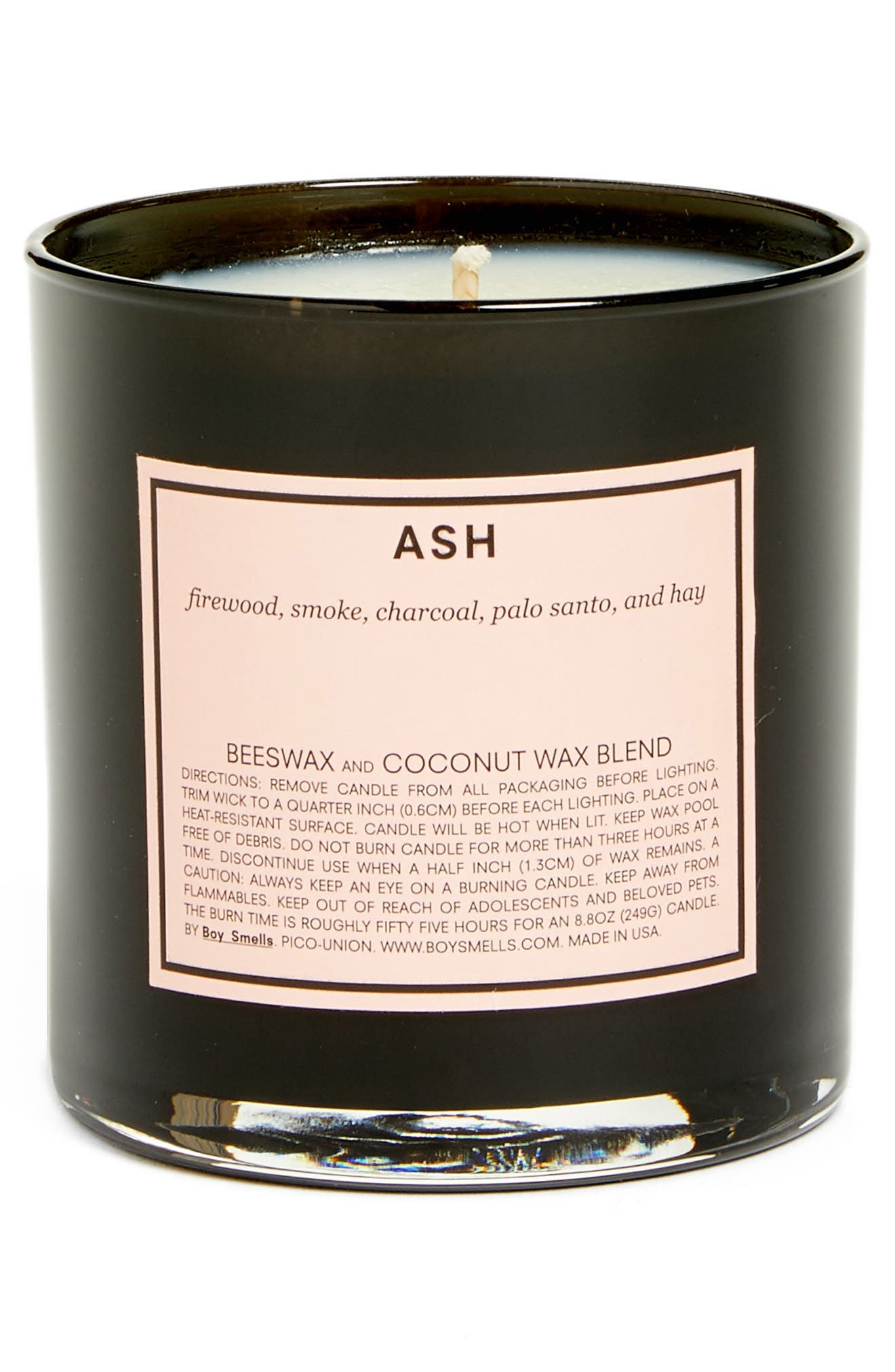 BOY SMELLS,                             Ash Scented Candle,                             Main thumbnail 1, color,                             NONE