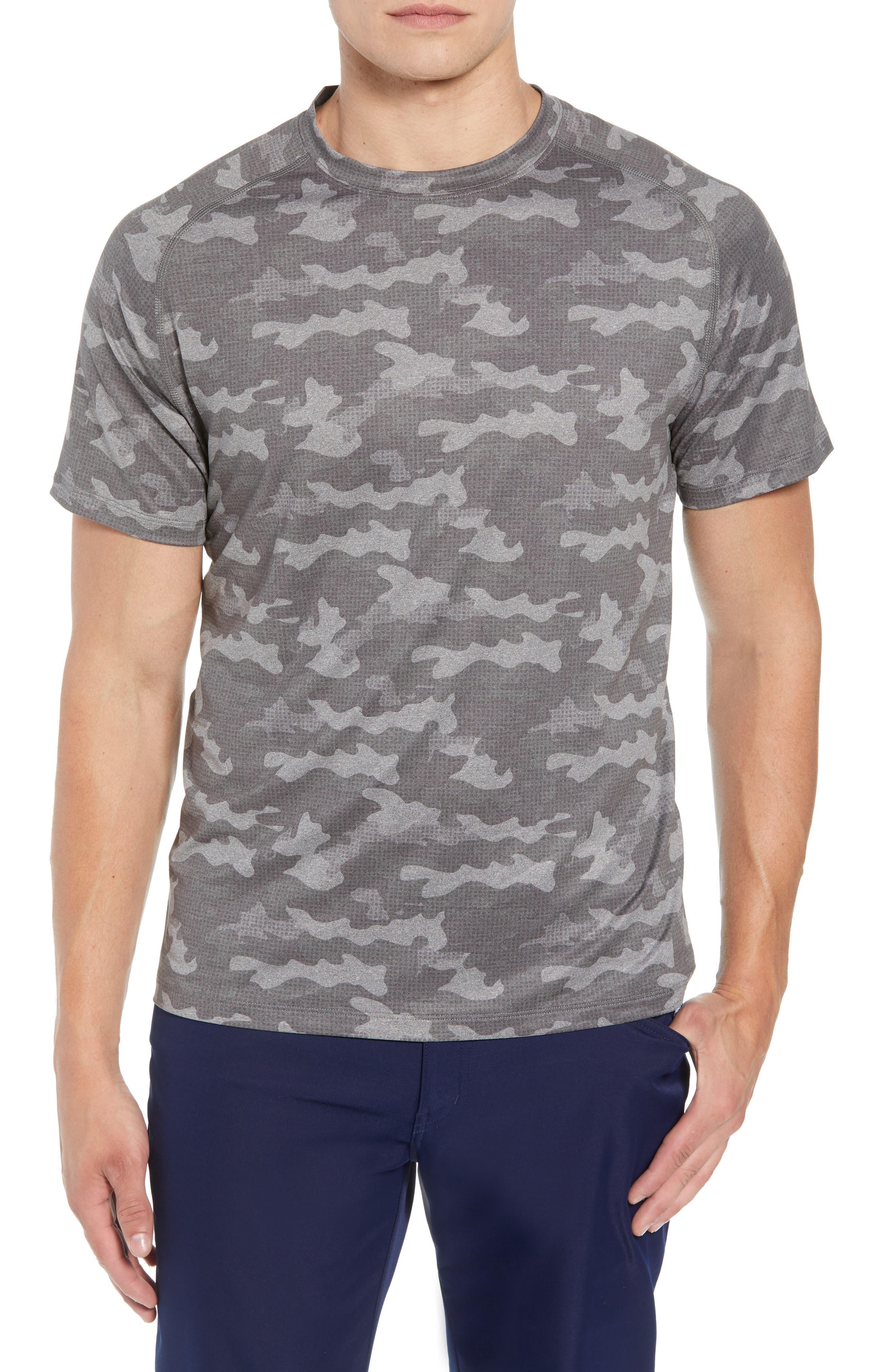 Rio Camo Tech T-Shirt,                             Main thumbnail 1, color,                             GREY