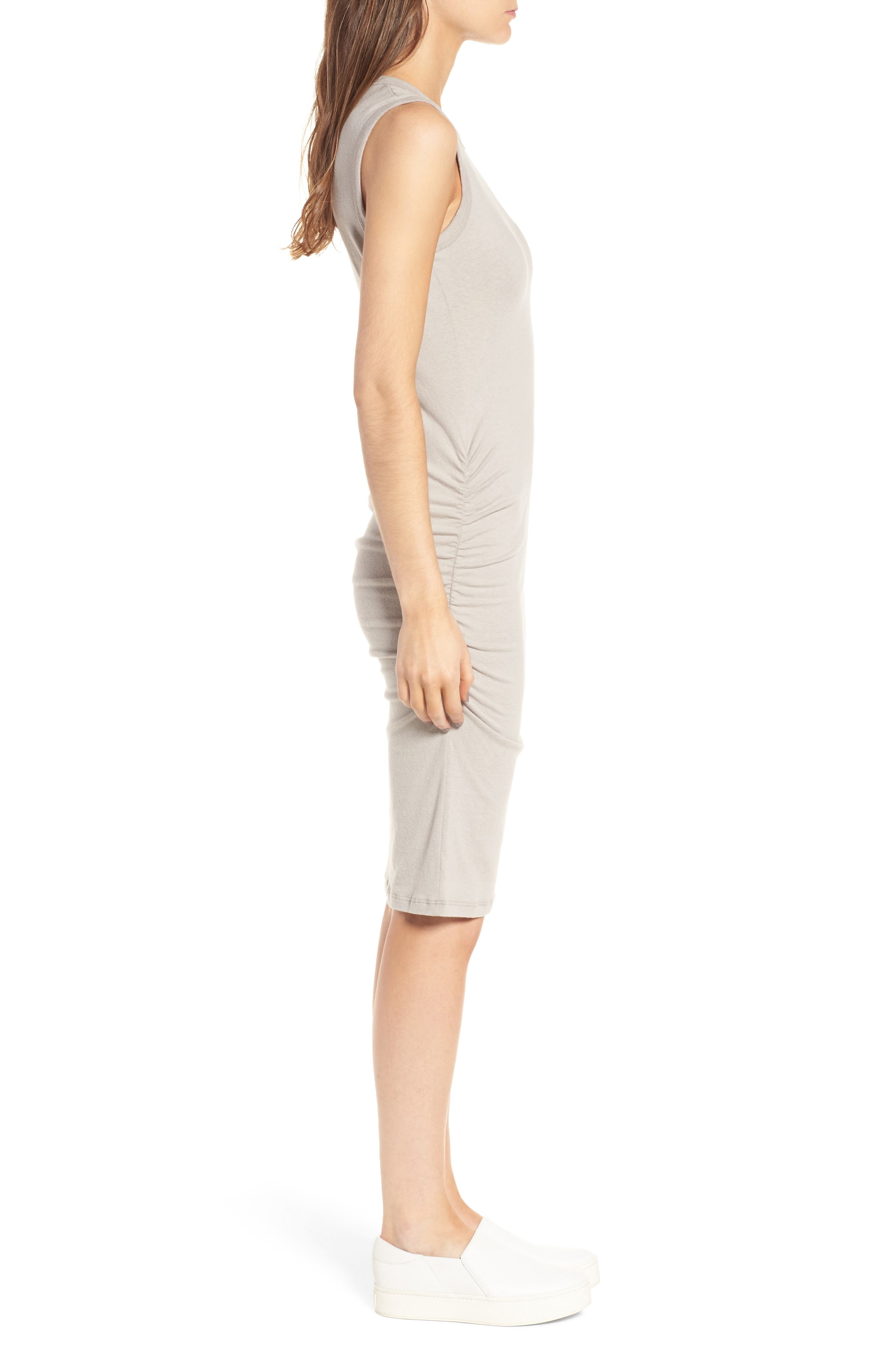 Ruched Tank Dress,                             Alternate thumbnail 4, color,                             085