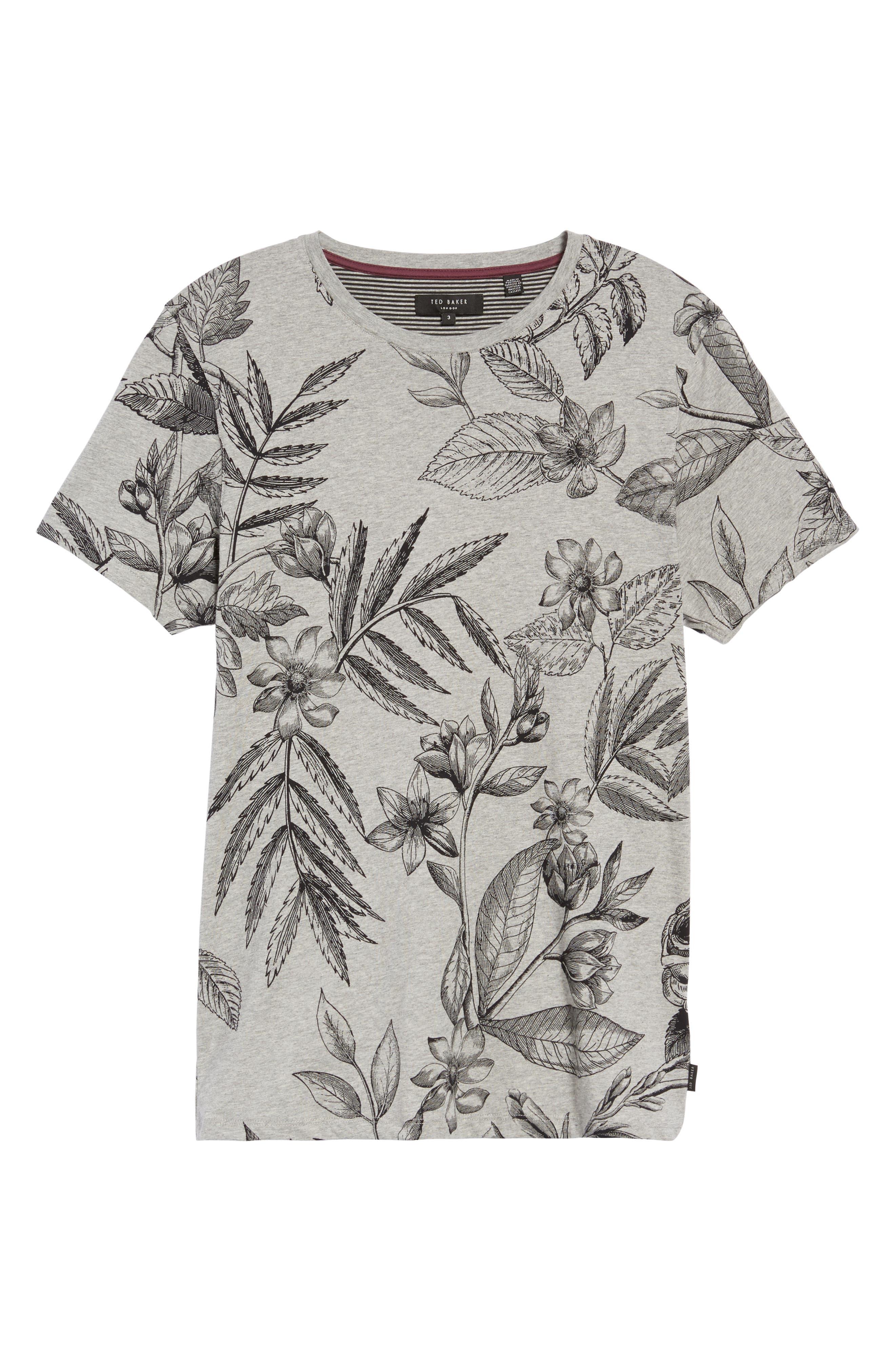 Peggi Floral Print T-Shirt,                             Alternate thumbnail 6, color,
