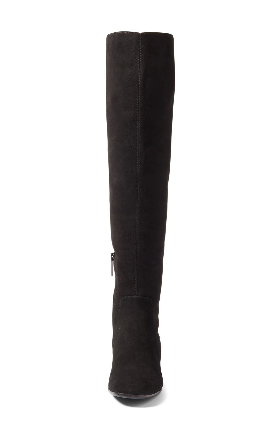 Lala Weatherproof Over the Knee Boot,                             Alternate thumbnail 3, color,                             001