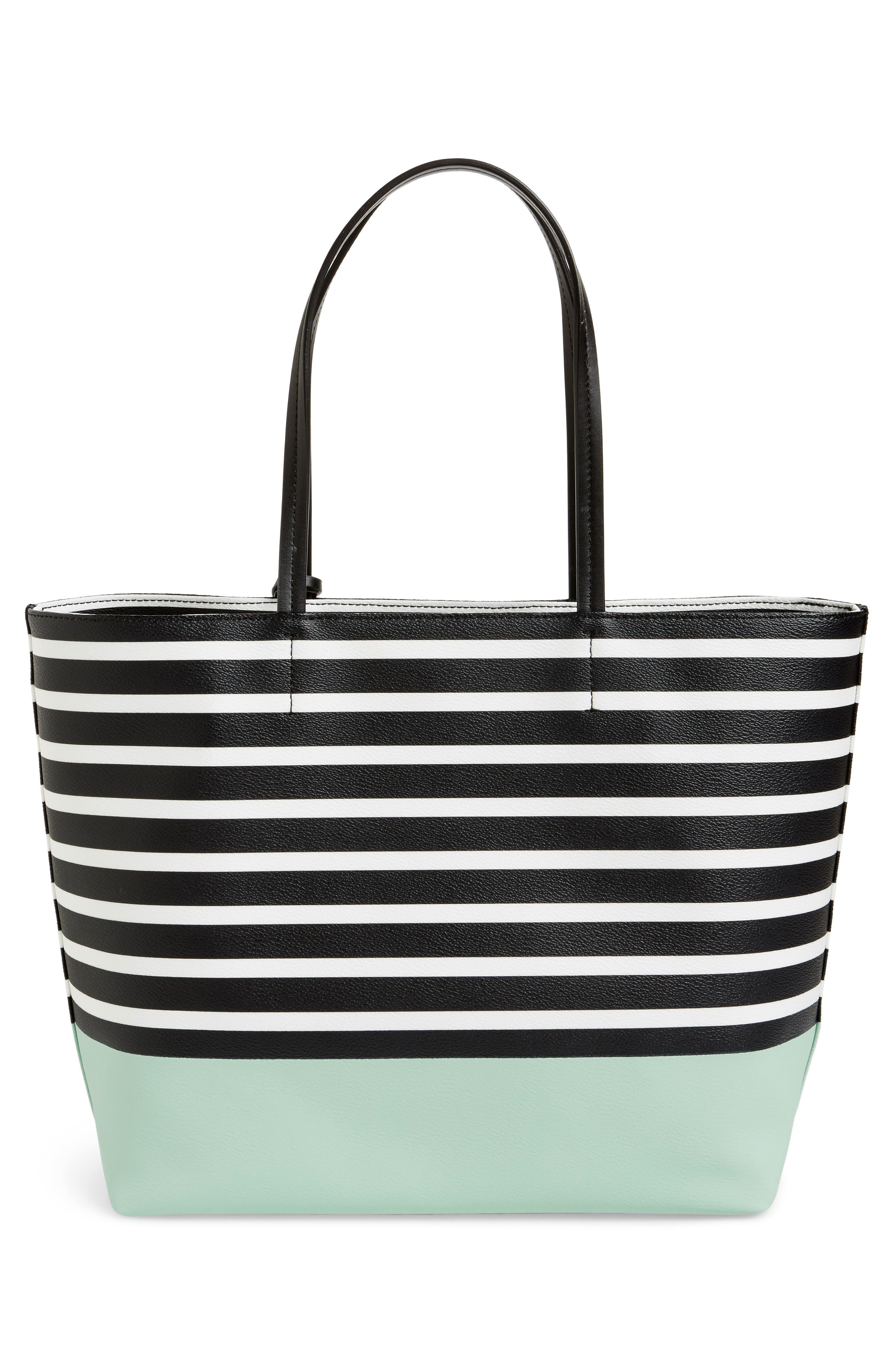 hyde lane dipped stripe - riley tote,                             Alternate thumbnail 3, color,                             377