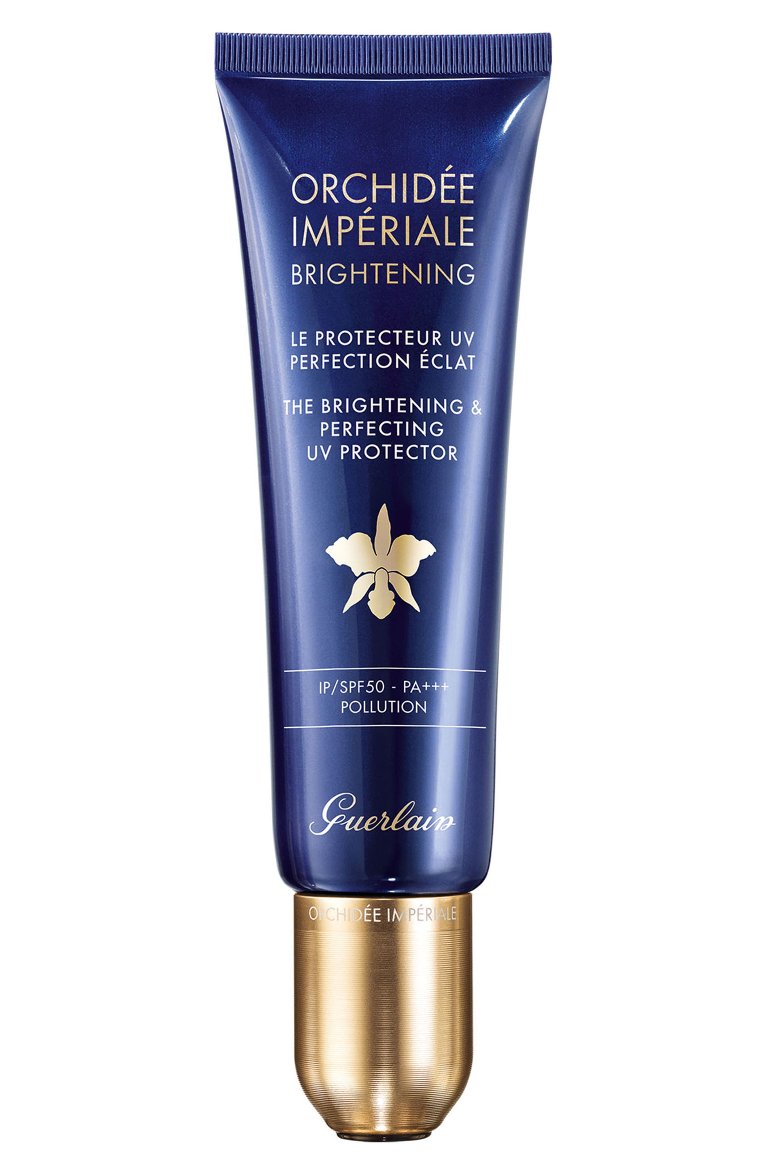 Orchidée Impériale The Brightening & Perfecting UV Protector SPF 50,                             Main thumbnail 1, color,                             NO COLOR