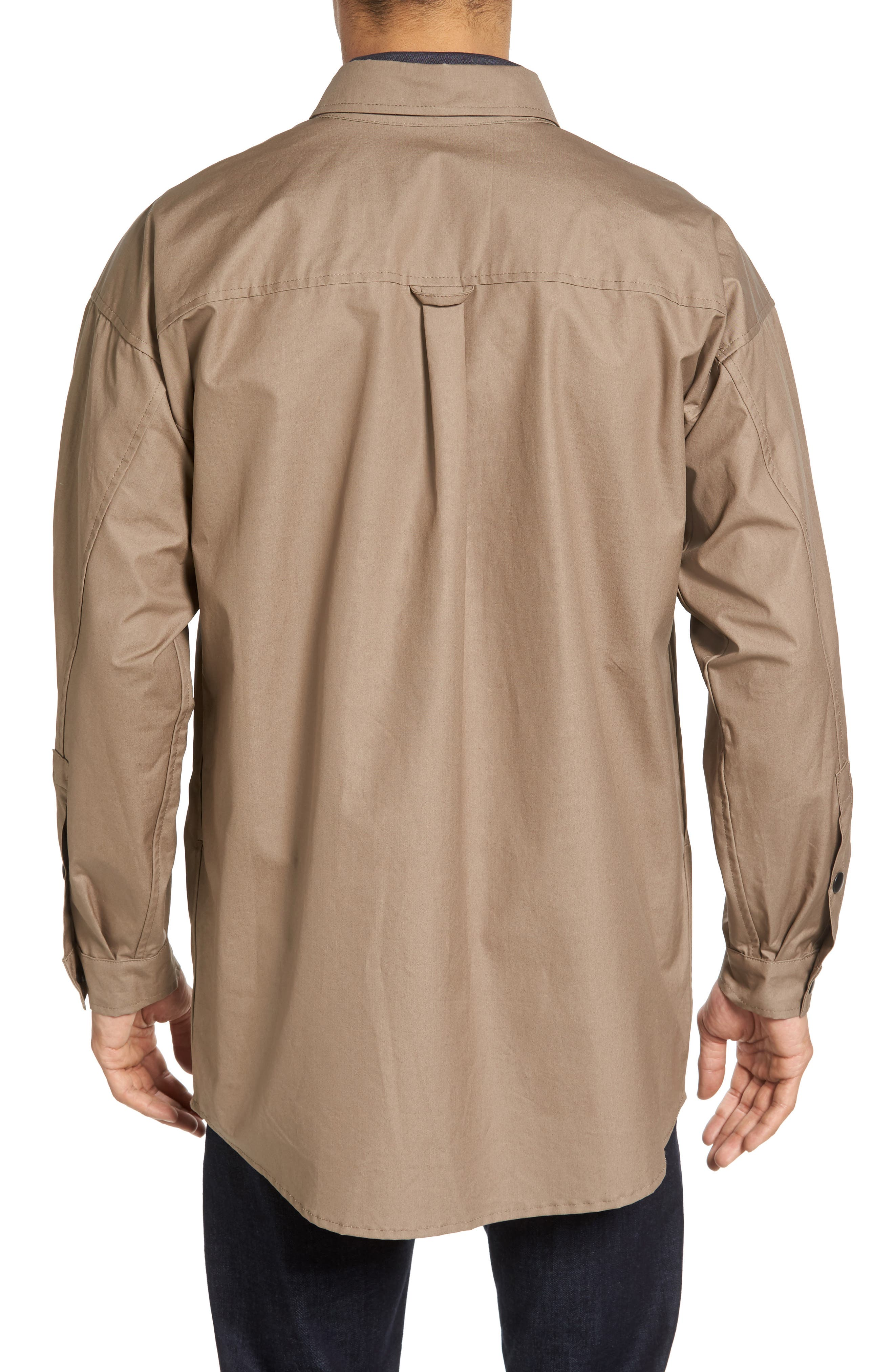 Lerum Relaxed Fit Shirt Jacket,                             Alternate thumbnail 4, color,
