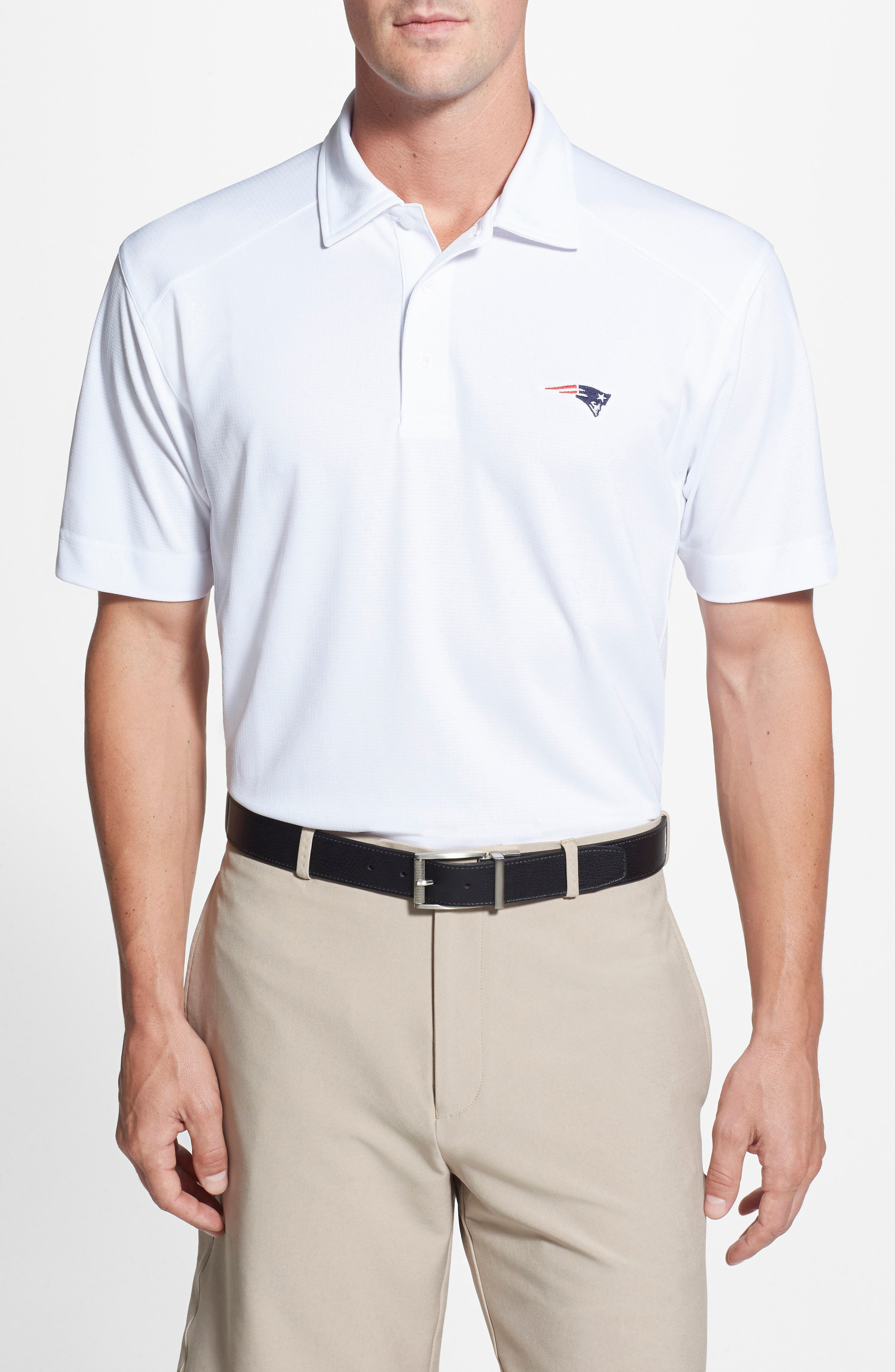 'New England Patriots - Genre' DryTec Moisture Wicking Polo,                             Alternate thumbnail 2, color,                             100