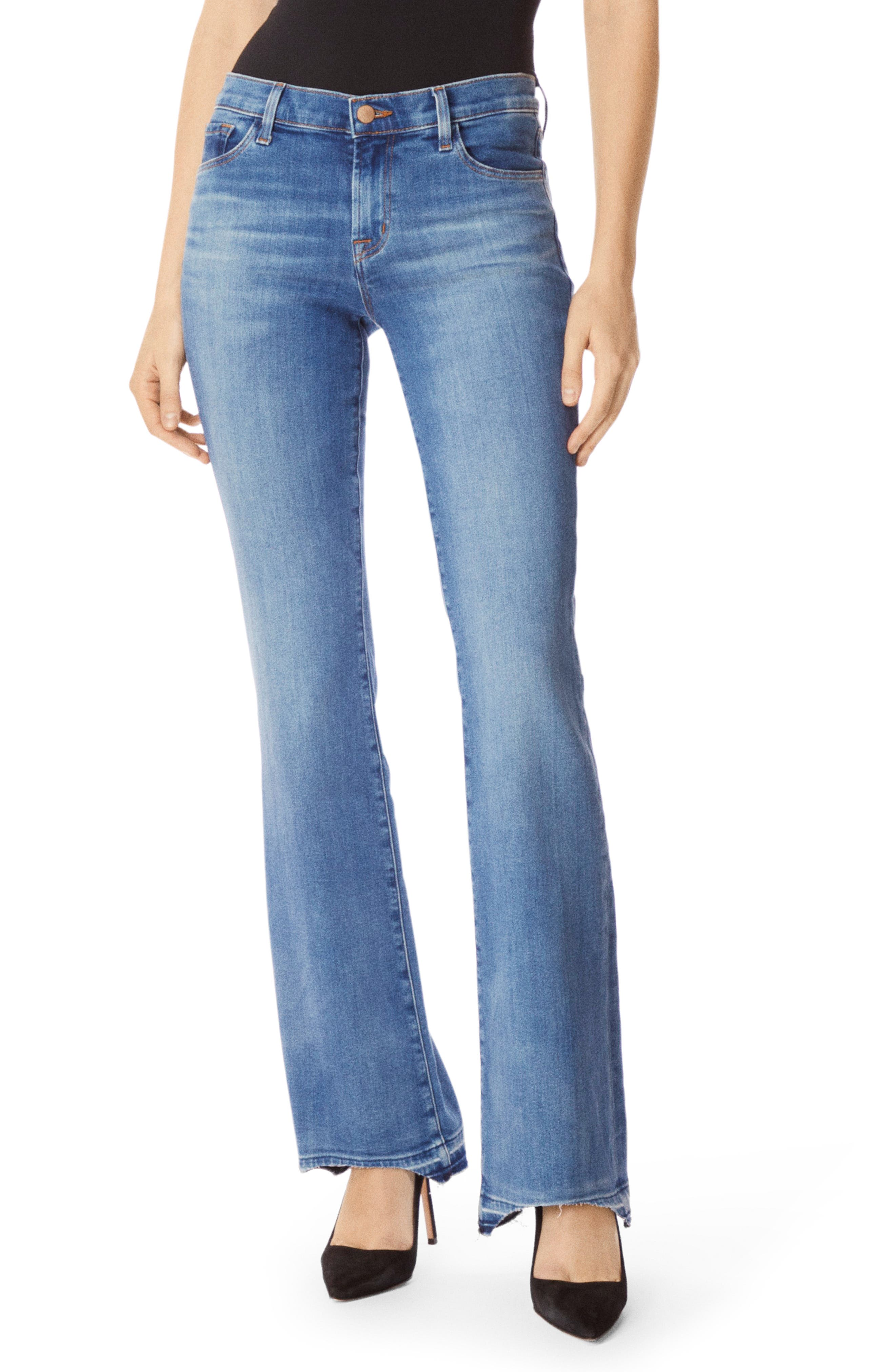 Sallie Release Hem Bootcut Jeans, Main, color, RADIATE