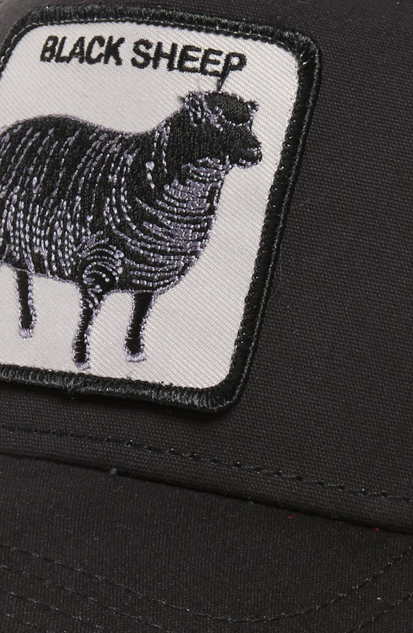 'Animal Farm - Naughty Lamb' Trucker Cap,                             Alternate thumbnail 4, color,                             BLACK