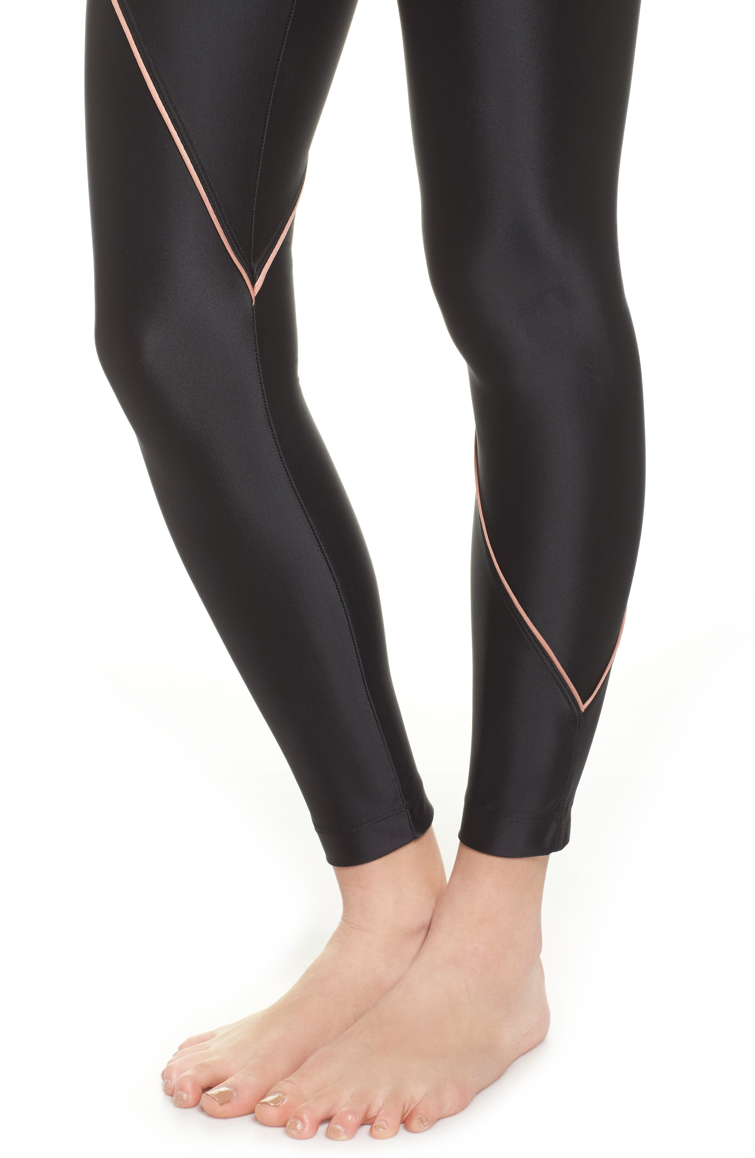 Street Leggings,                             Alternate thumbnail 4, color,                             BLACK