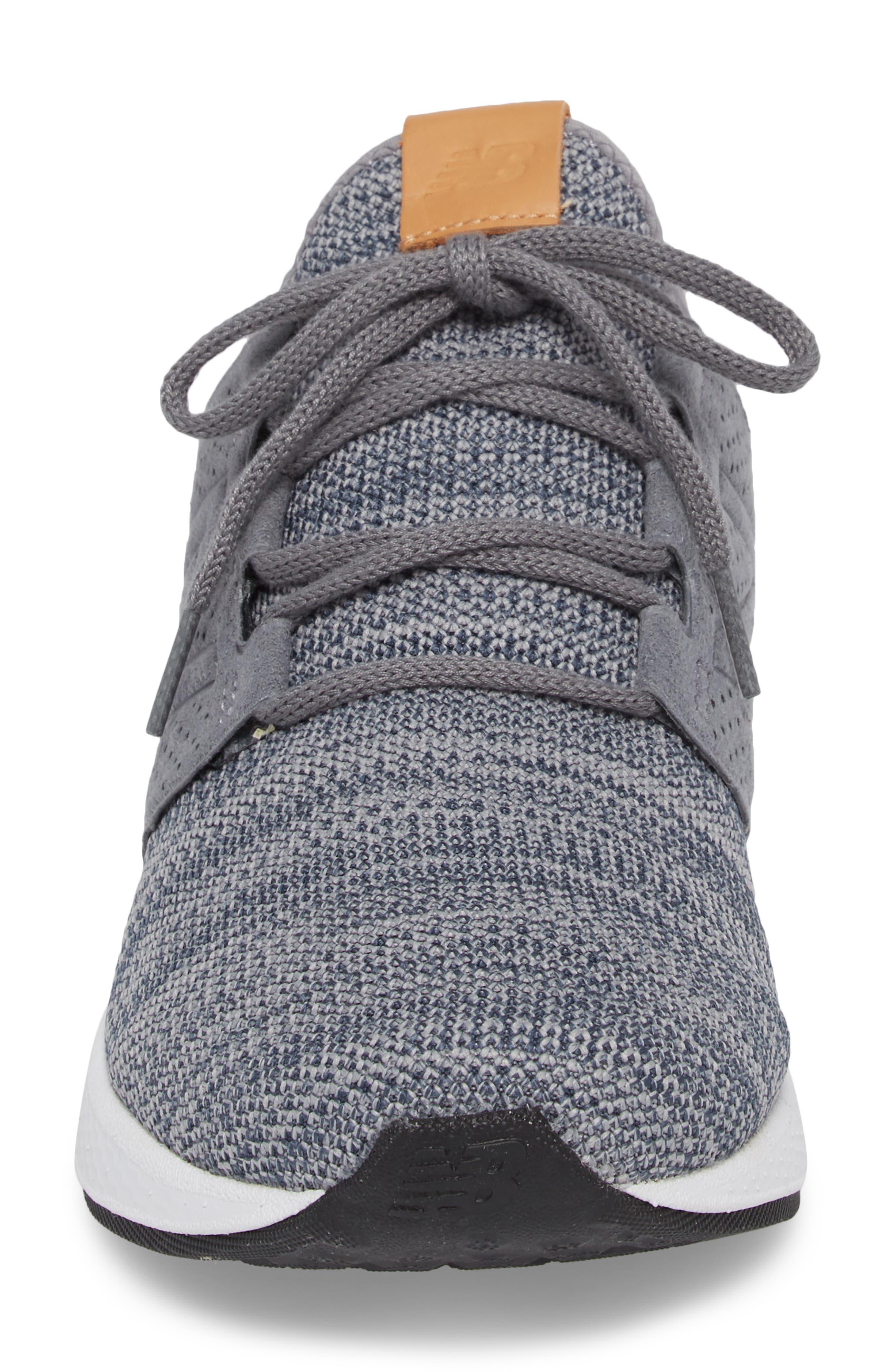 Fresh Foam Cruz v2 Knit Running Shoe,                             Alternate thumbnail 4, color,                             GUNMETAL