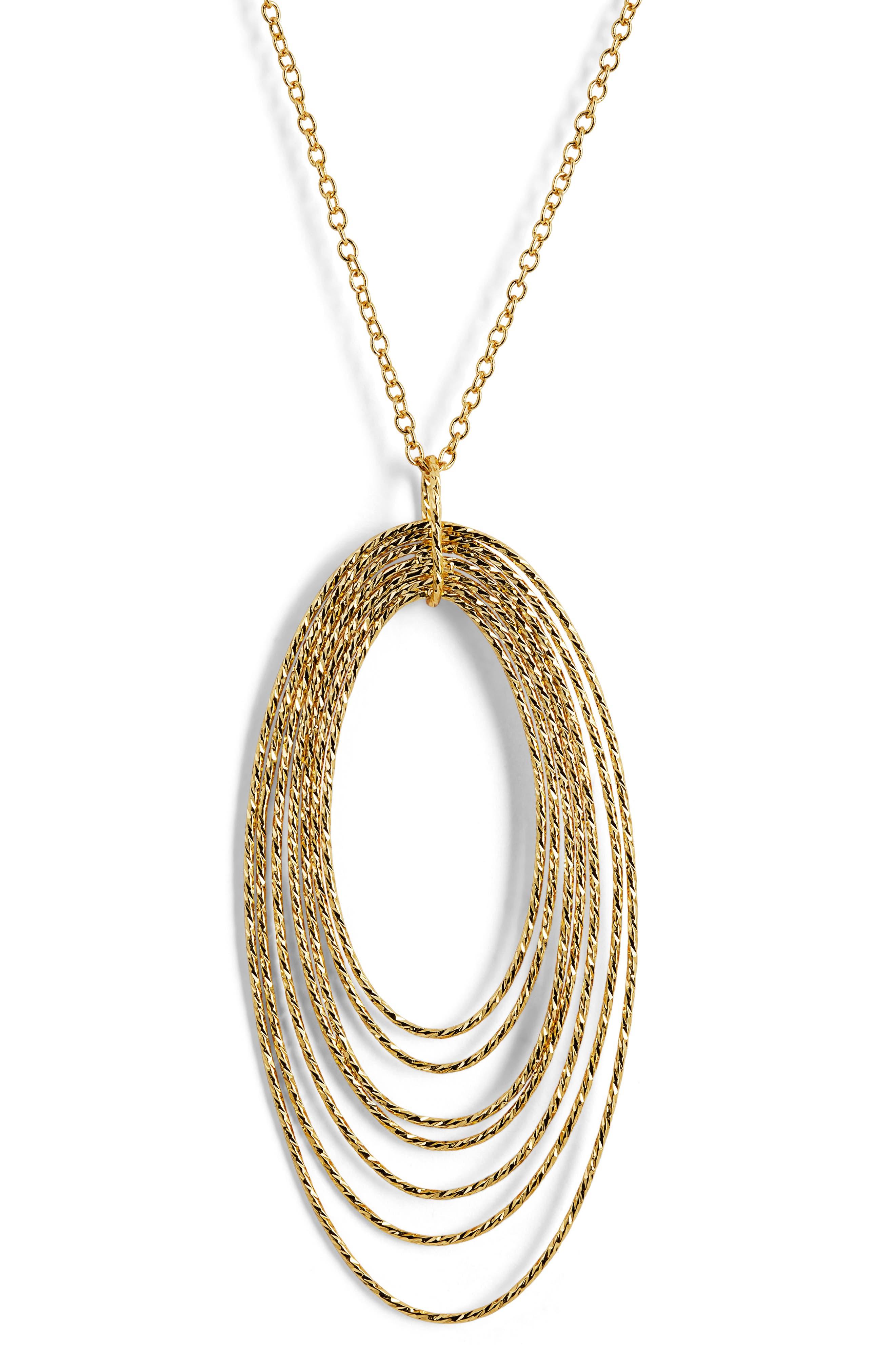 GORJANA,                             Presely Long Adjustable Pendant Necklace,                             Alternate thumbnail 2, color,                             GOLD