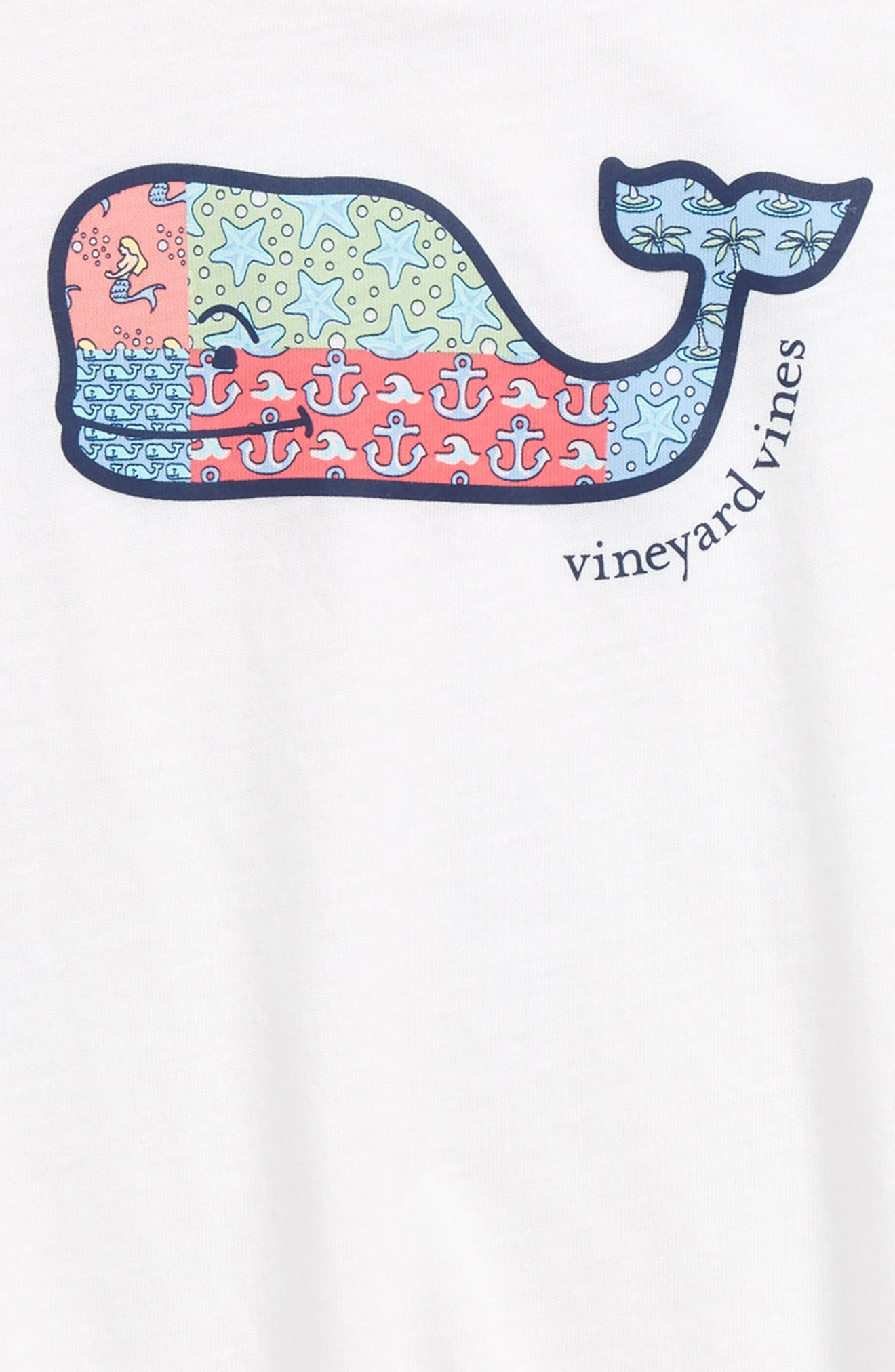 Patchwork Whale Swing Tee,                             Alternate thumbnail 2, color,                             100