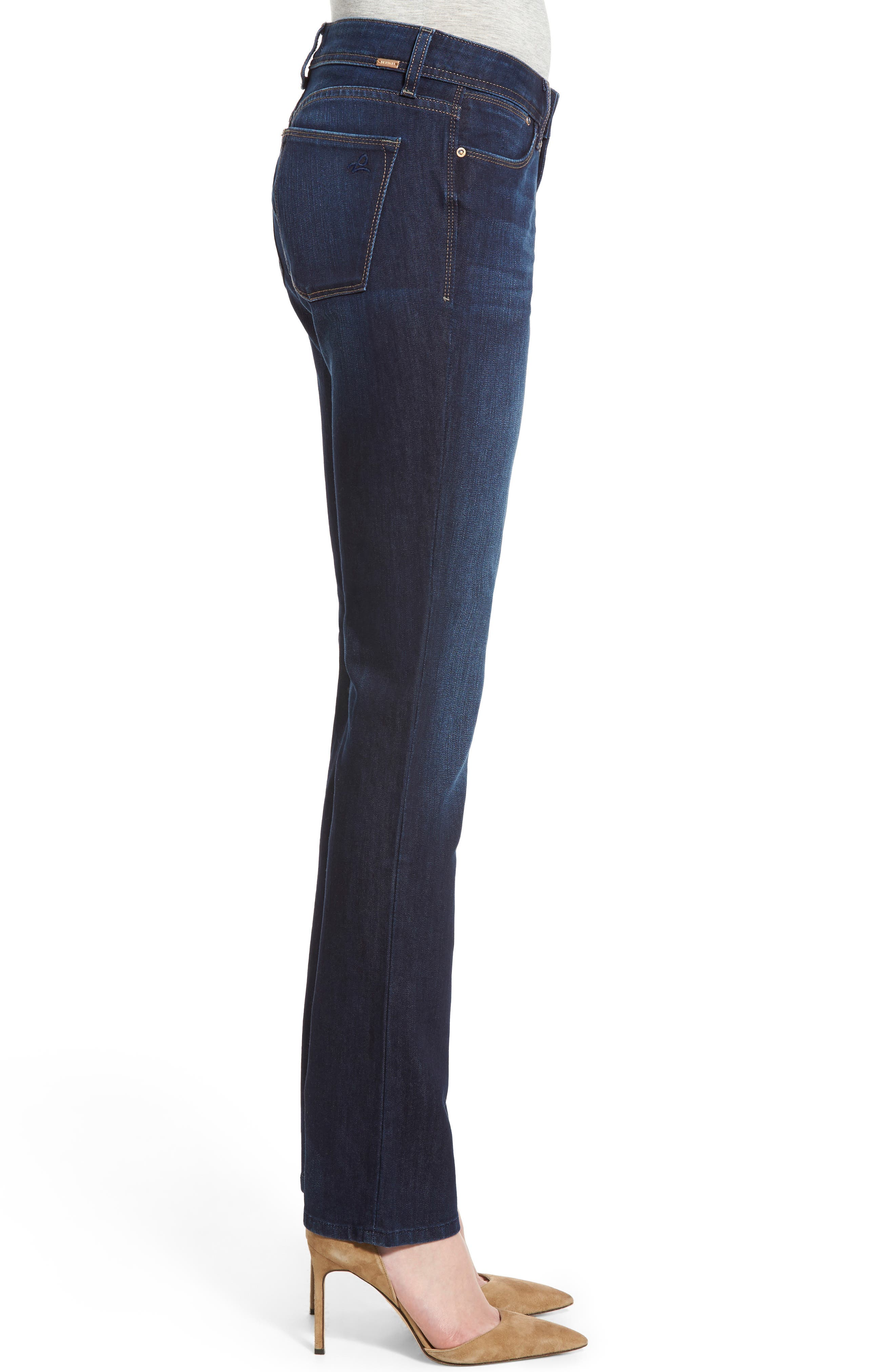 'Coco' Curvy Straight Jeans,                             Alternate thumbnail 3, color,                             SOLO