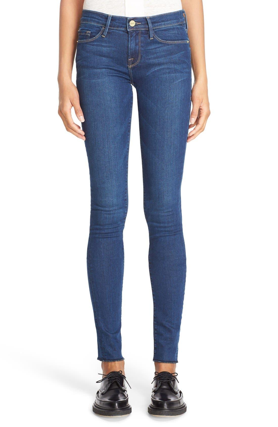 FRAME,                             Forever Karlie Skinny Jeans,                             Main thumbnail 1, color,                             401