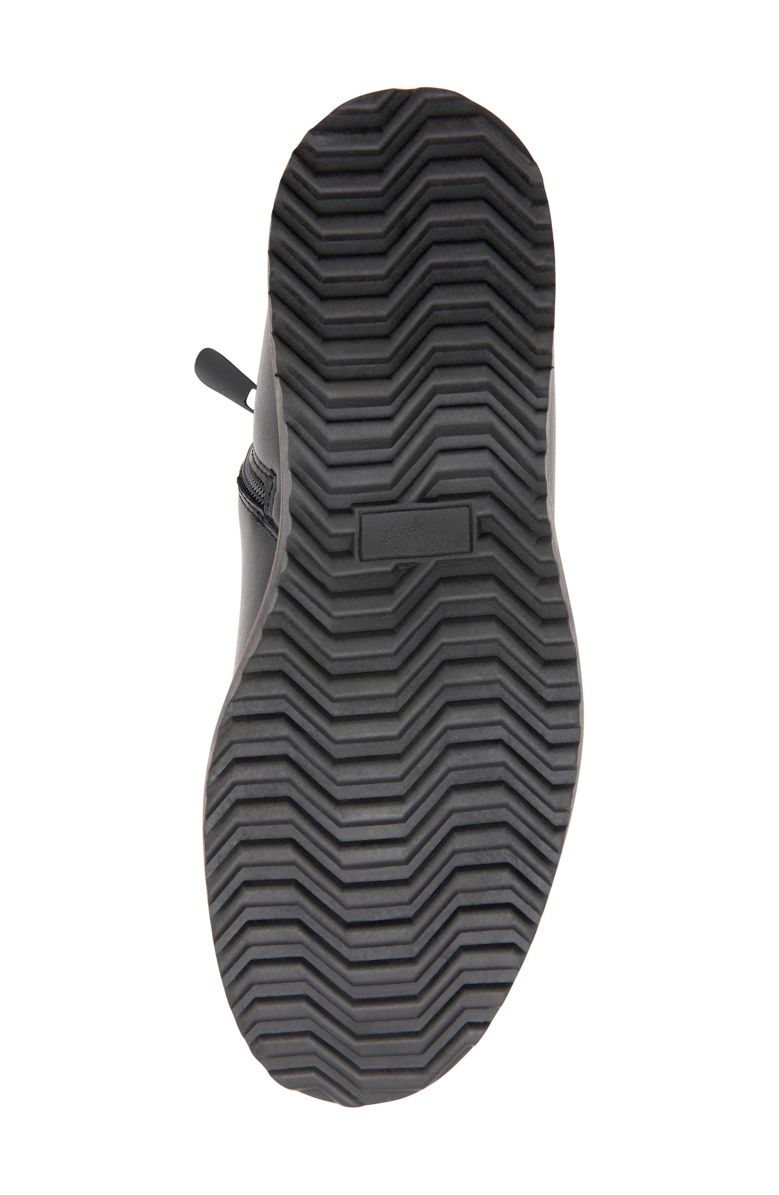 Morgan Waterproof Plain Toe Boot,                             Alternate thumbnail 5, color,                             BLACK LEATHER