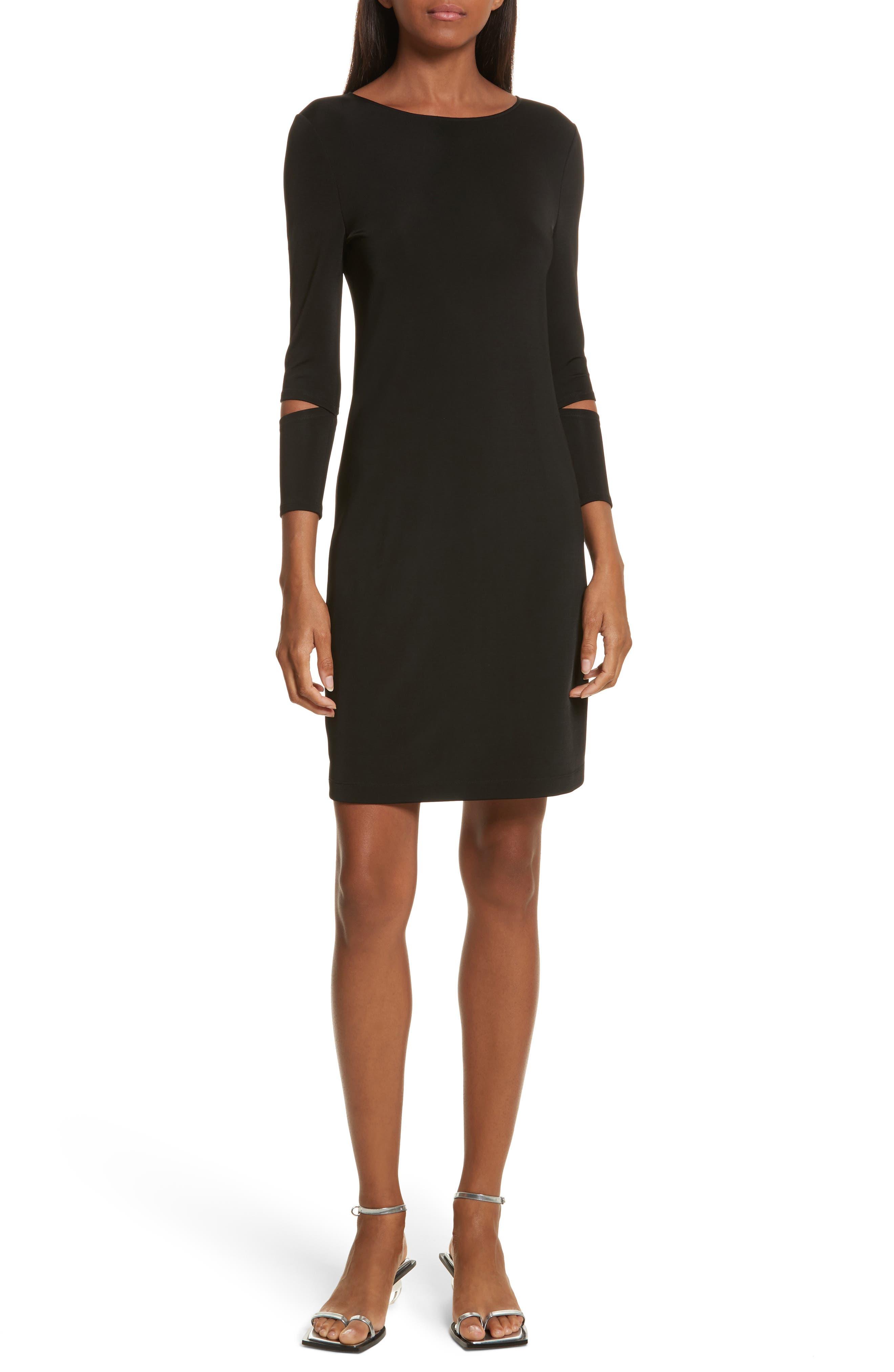 Detached Cuff Bondage Jersey Dress,                             Main thumbnail 1, color,                             001