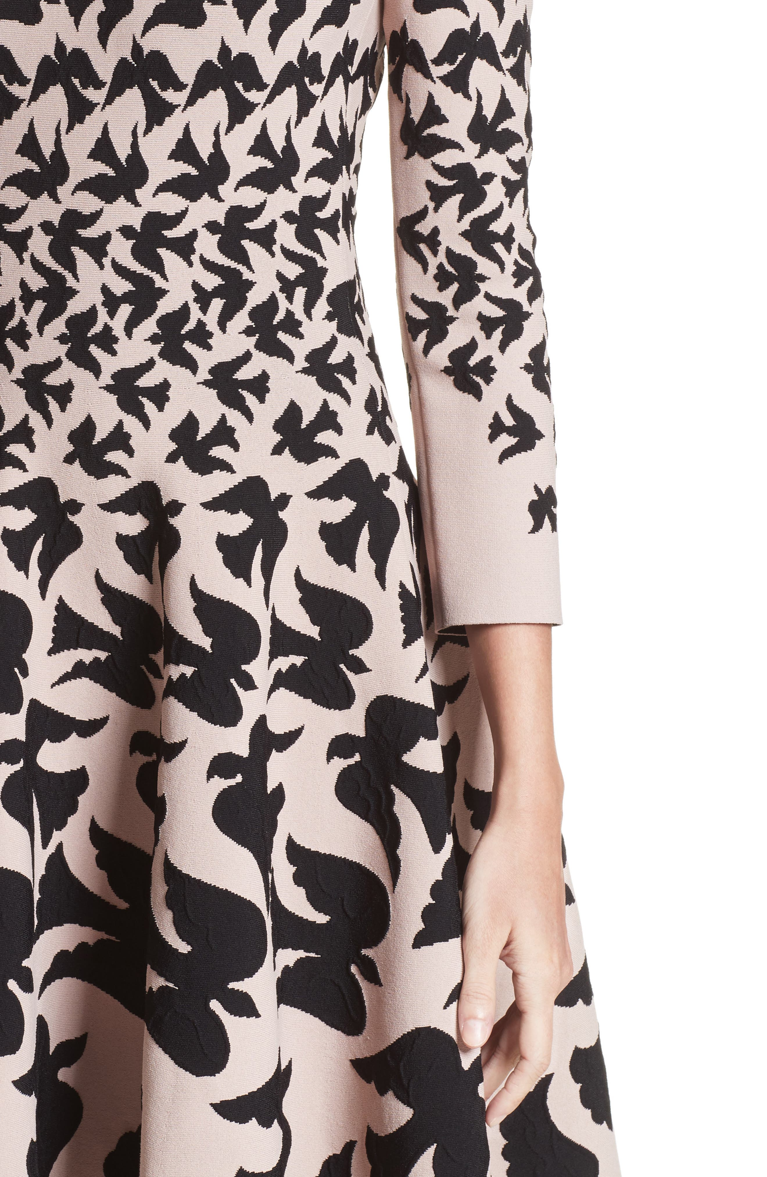 Swallow Jacquard Dress,                             Alternate thumbnail 4, color,                             655