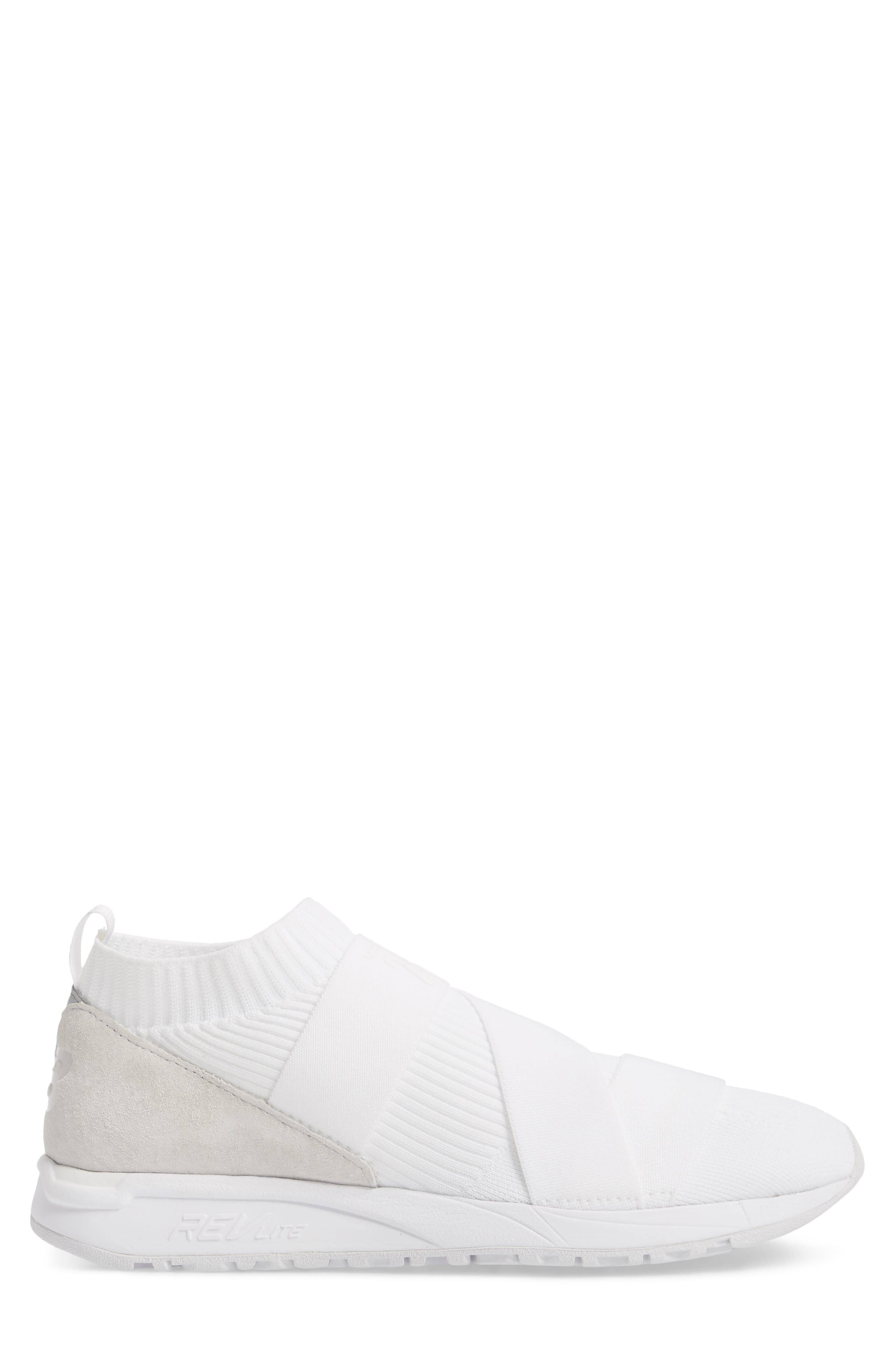 247 Knit Sneaker,                             Alternate thumbnail 3, color,                             WHITE