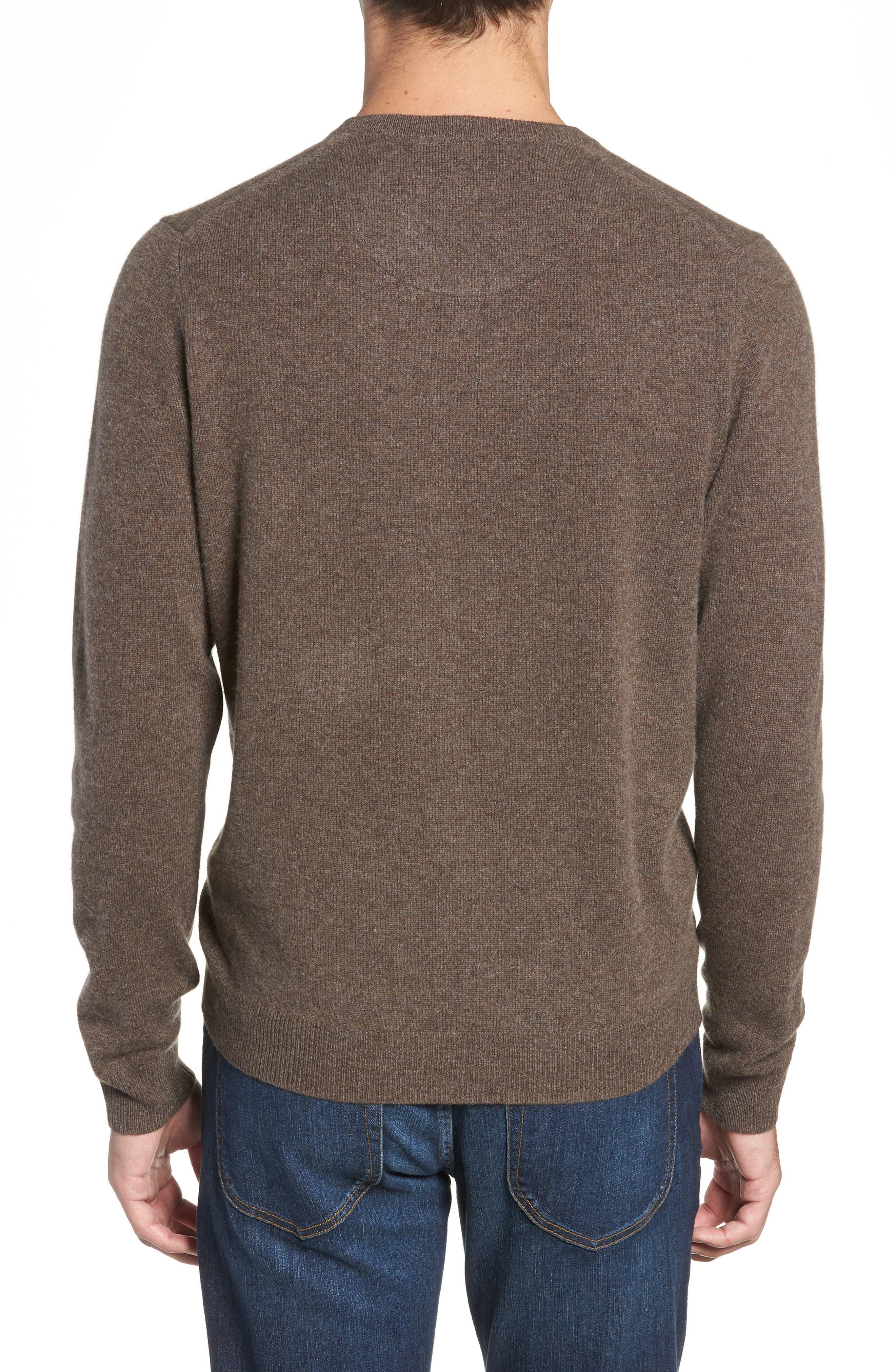 Cashmere V-Neck Sweater,                             Alternate thumbnail 2, color,                             210