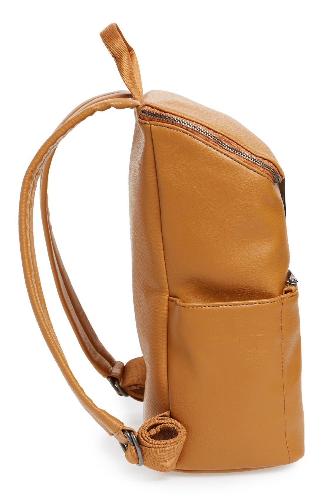 'Brave' Faux Leather Backpack,                             Alternate thumbnail 95, color,