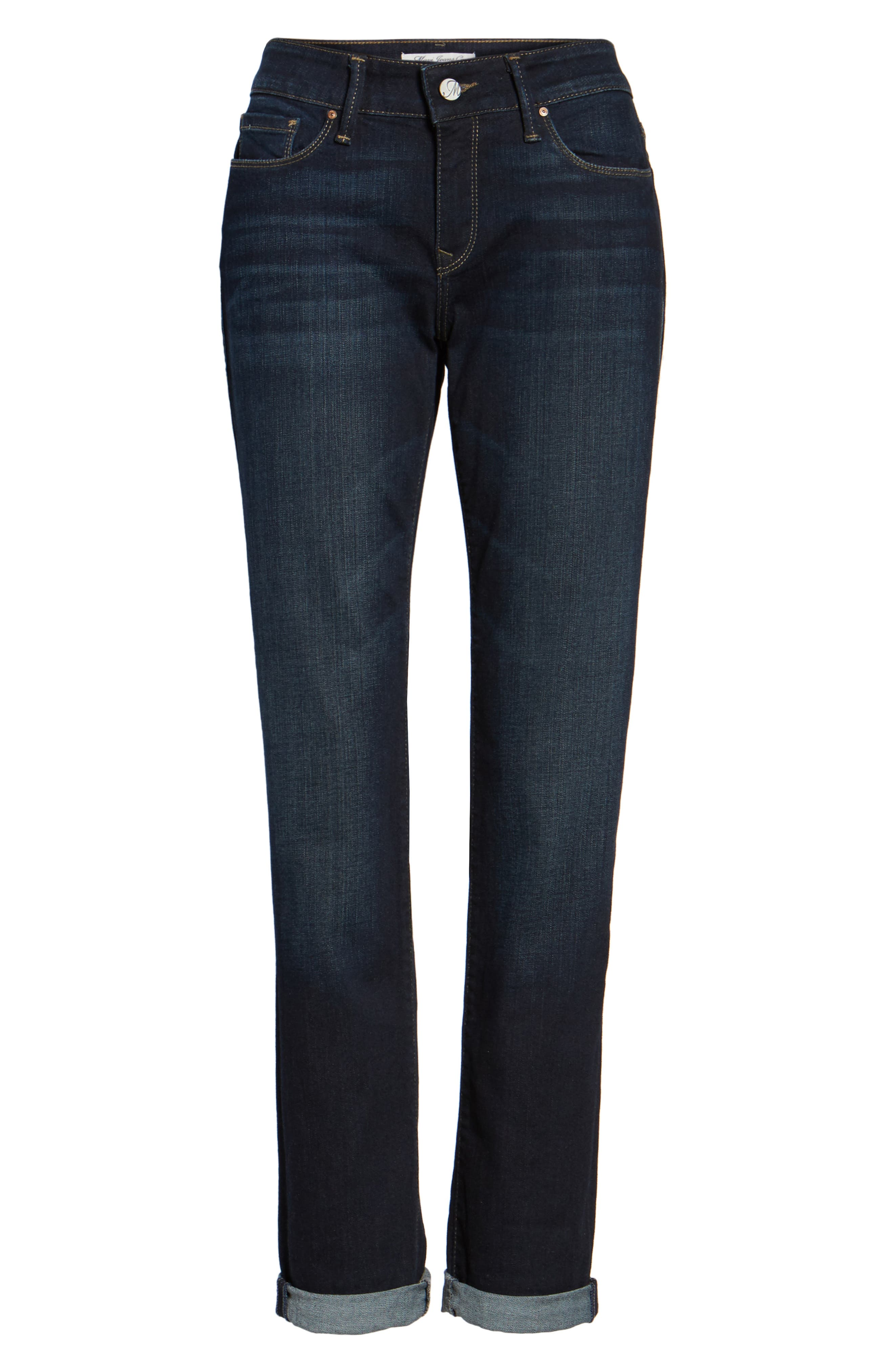 Emma Slim Boyfriend Jeans,                             Alternate thumbnail 6, color,                             DEEP BRUSHED TRIBECA