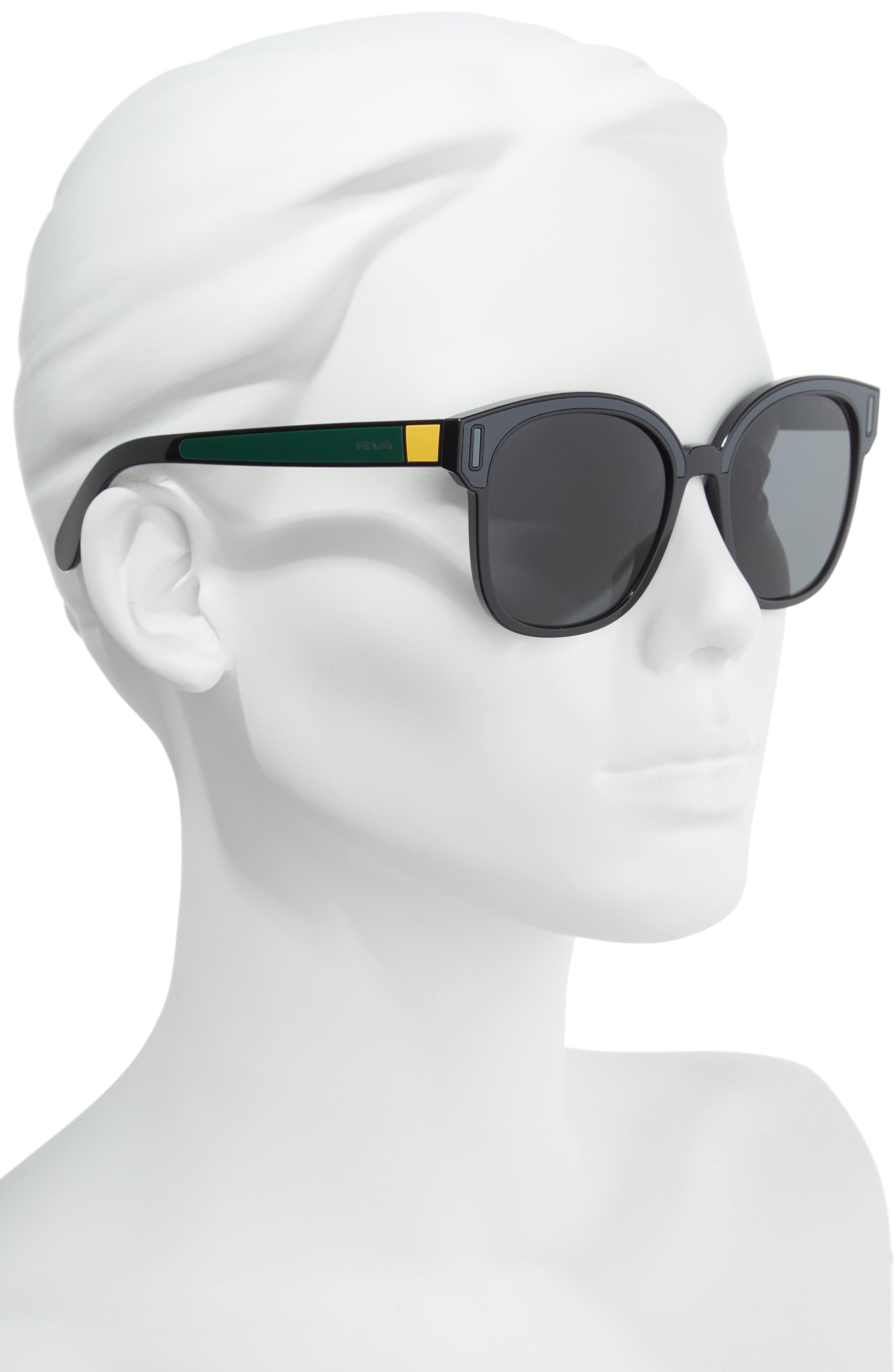 53mm Colorblock Square Sunglasses,                             Alternate thumbnail 2, color,                             022