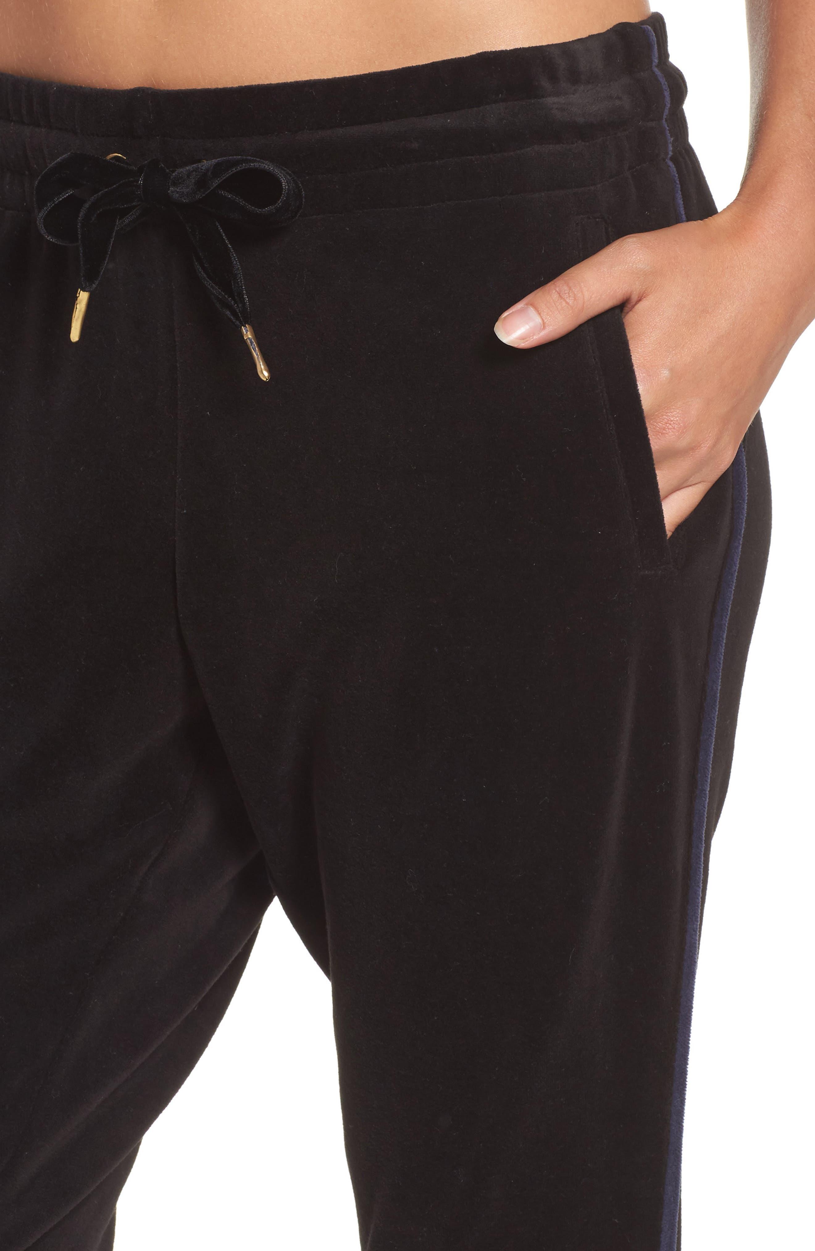 Velour Sweatpants,                             Alternate thumbnail 4, color,                             001