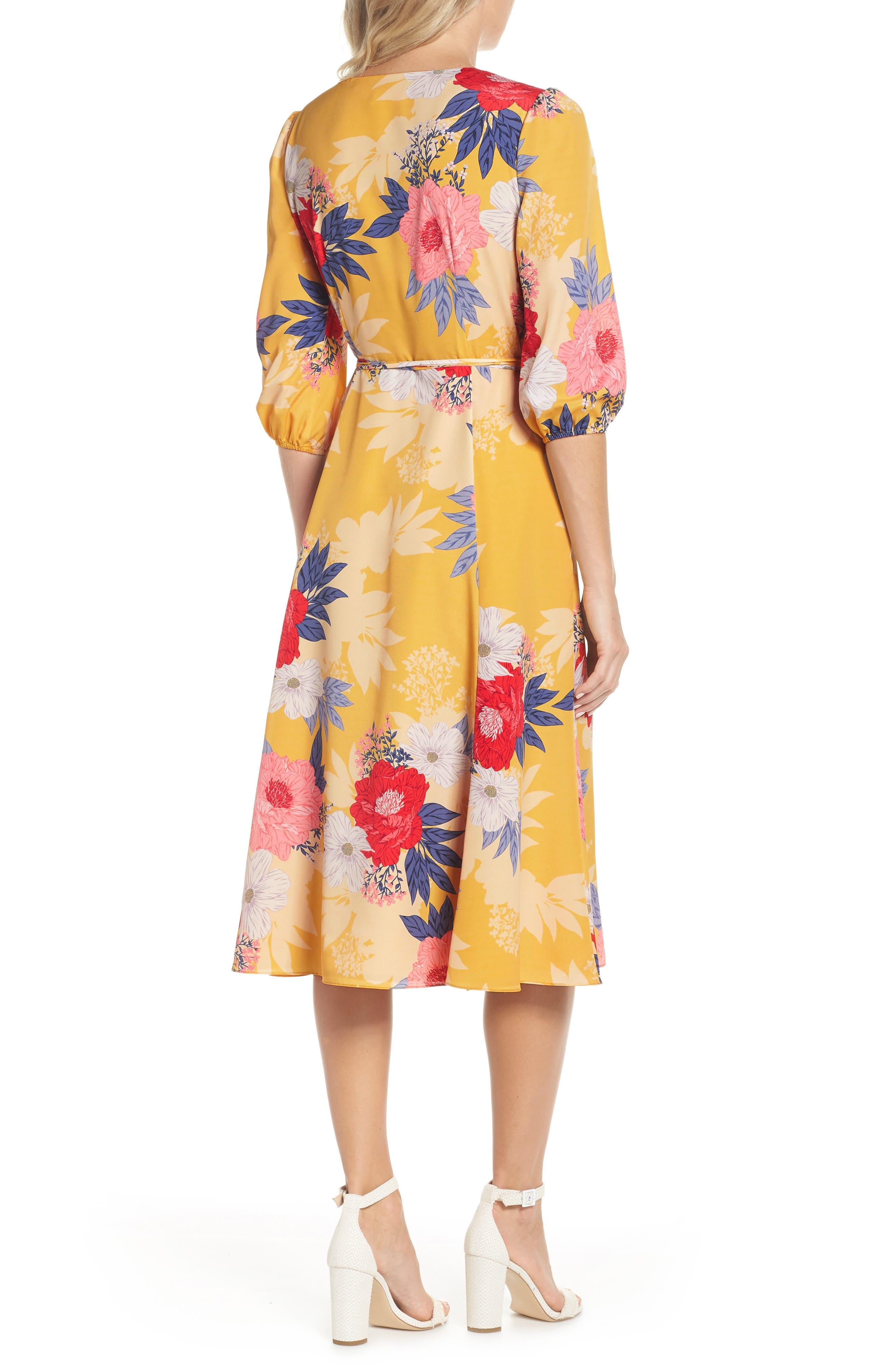 Faux Wrap Midi Dress,                             Alternate thumbnail 2, color,                             720