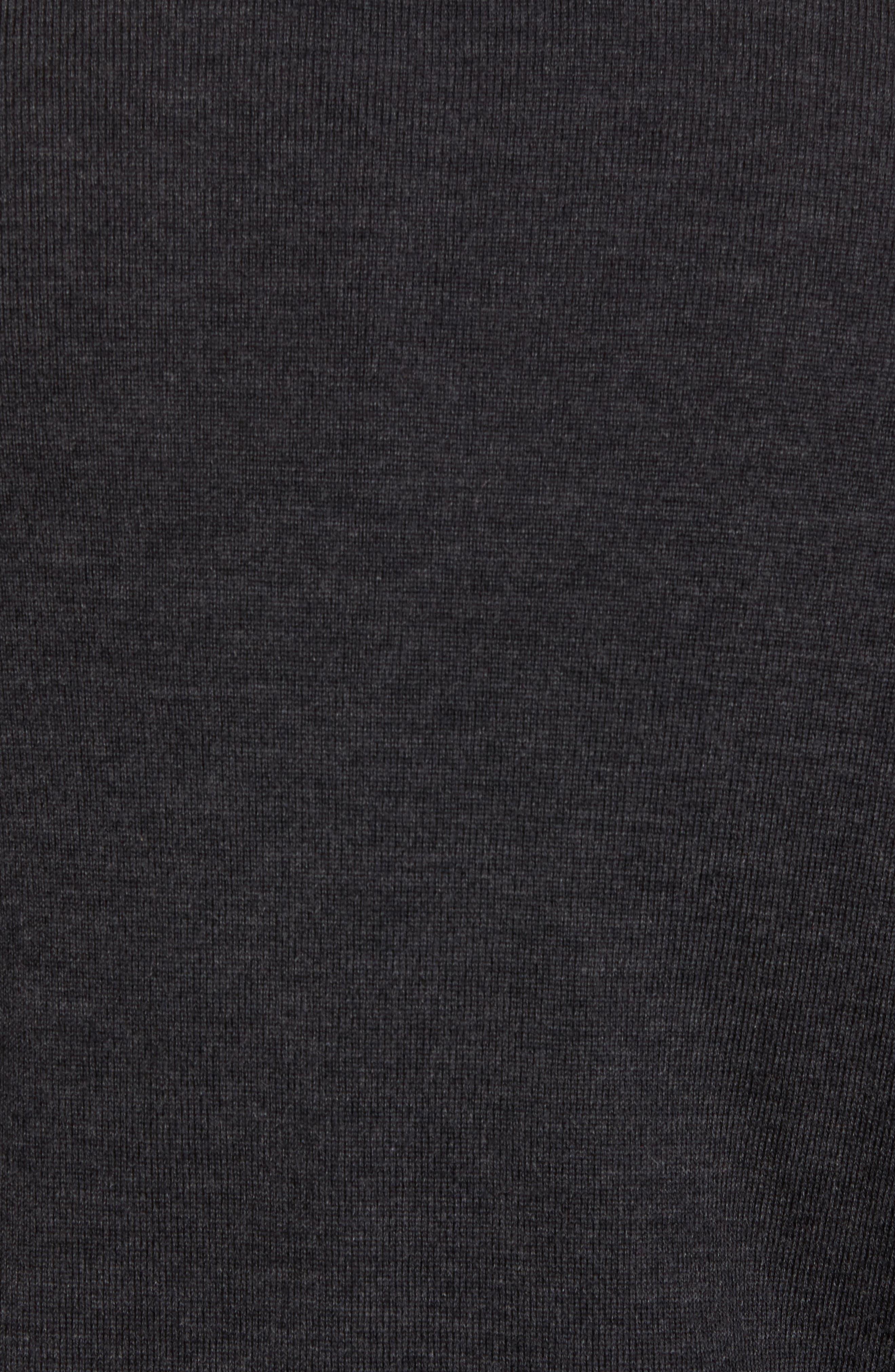 THOMAS DEAN,                             Merino Wool Blend Quarter Zip Sweater,                             Alternate thumbnail 5, color,                             020