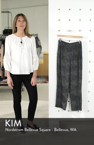 Print Pleat Front Pants, sales video thumbnail