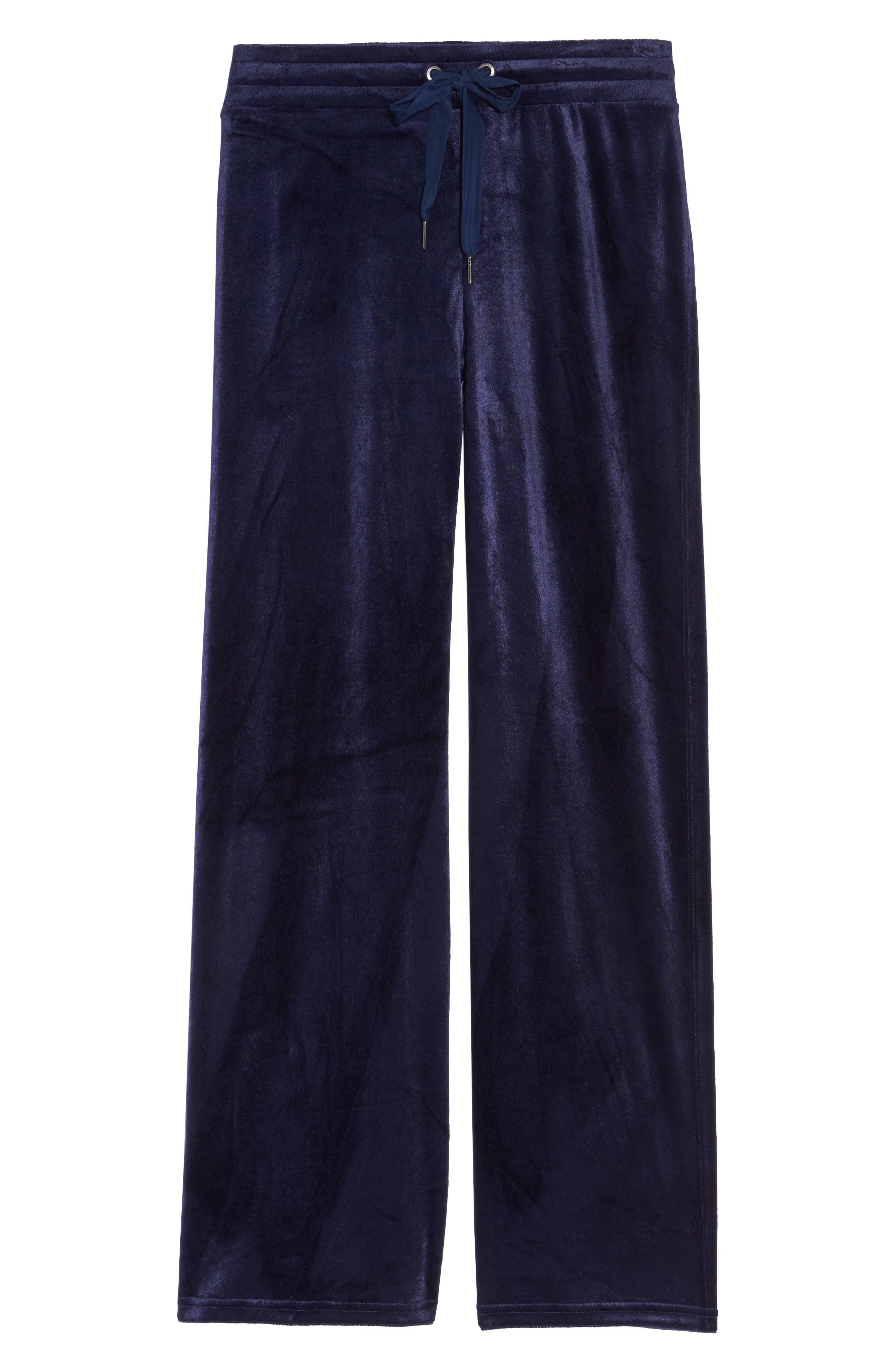 Paris Wide Leg Velour Pants,                             Alternate thumbnail 12, color,