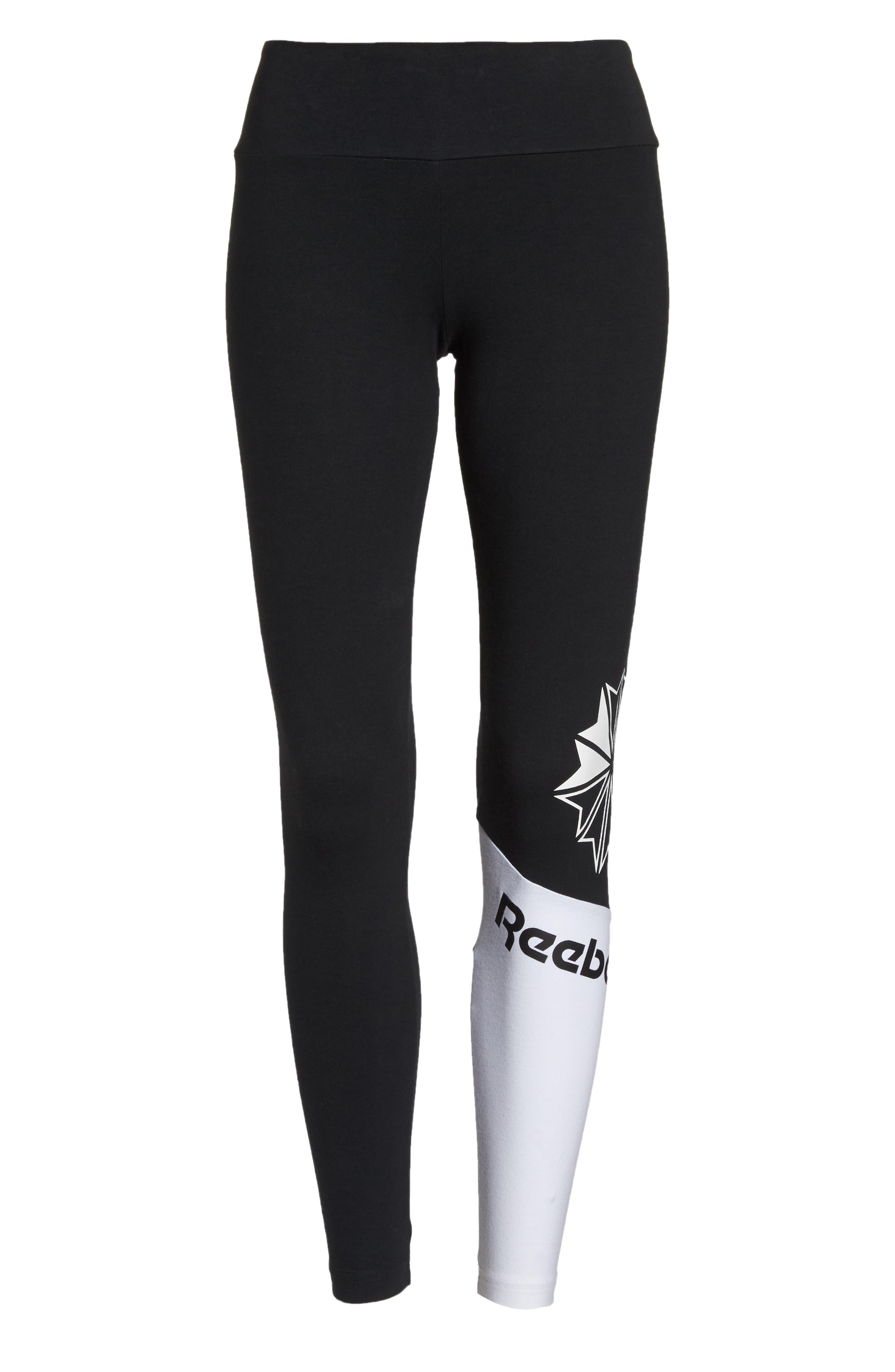 Starcrest Logo Leggings,                             Alternate thumbnail 6, color,                             BLACK