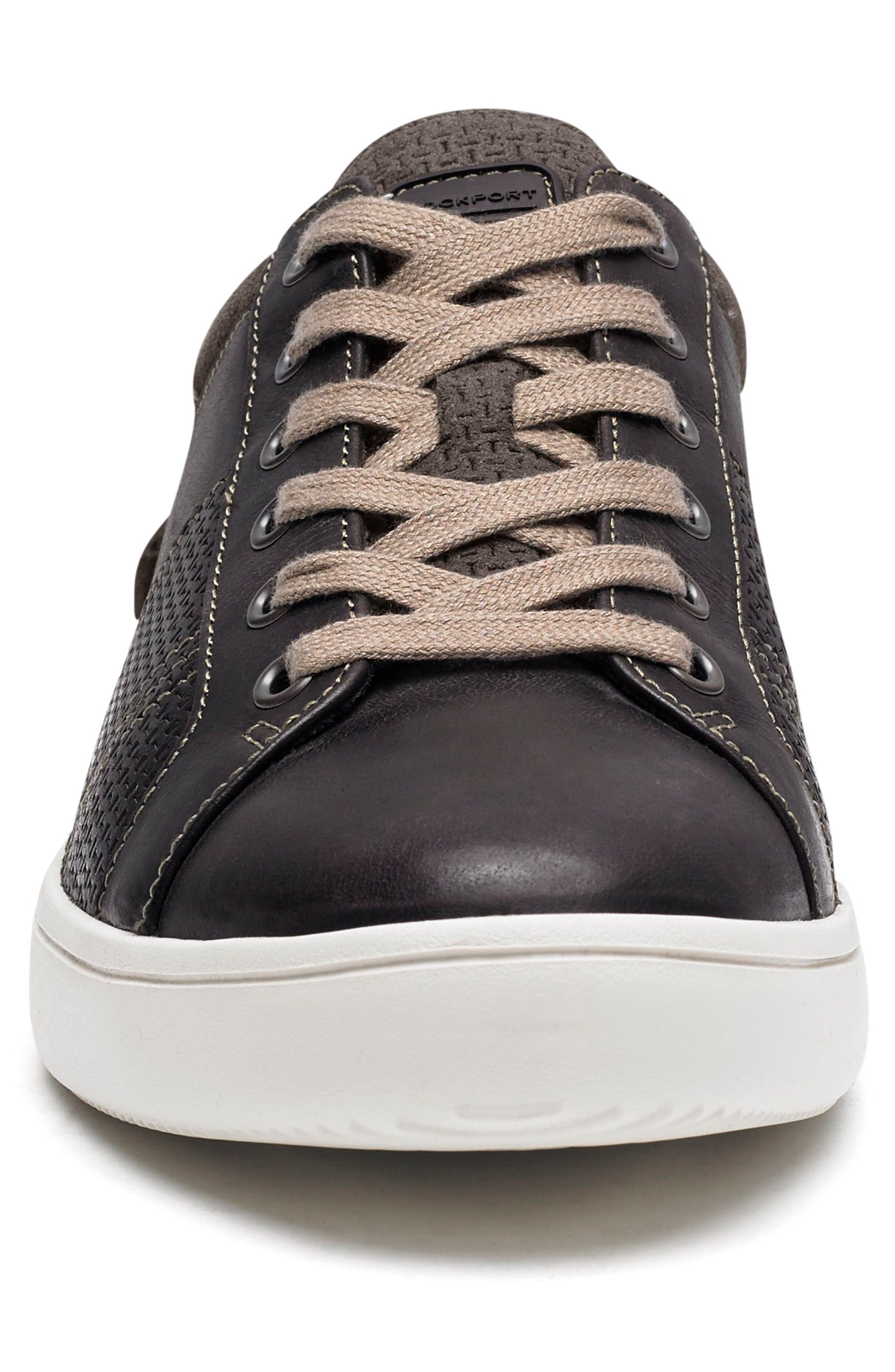 Colle Textured Sneaker,                             Alternate thumbnail 4, color,                             COFFEE LEATHER