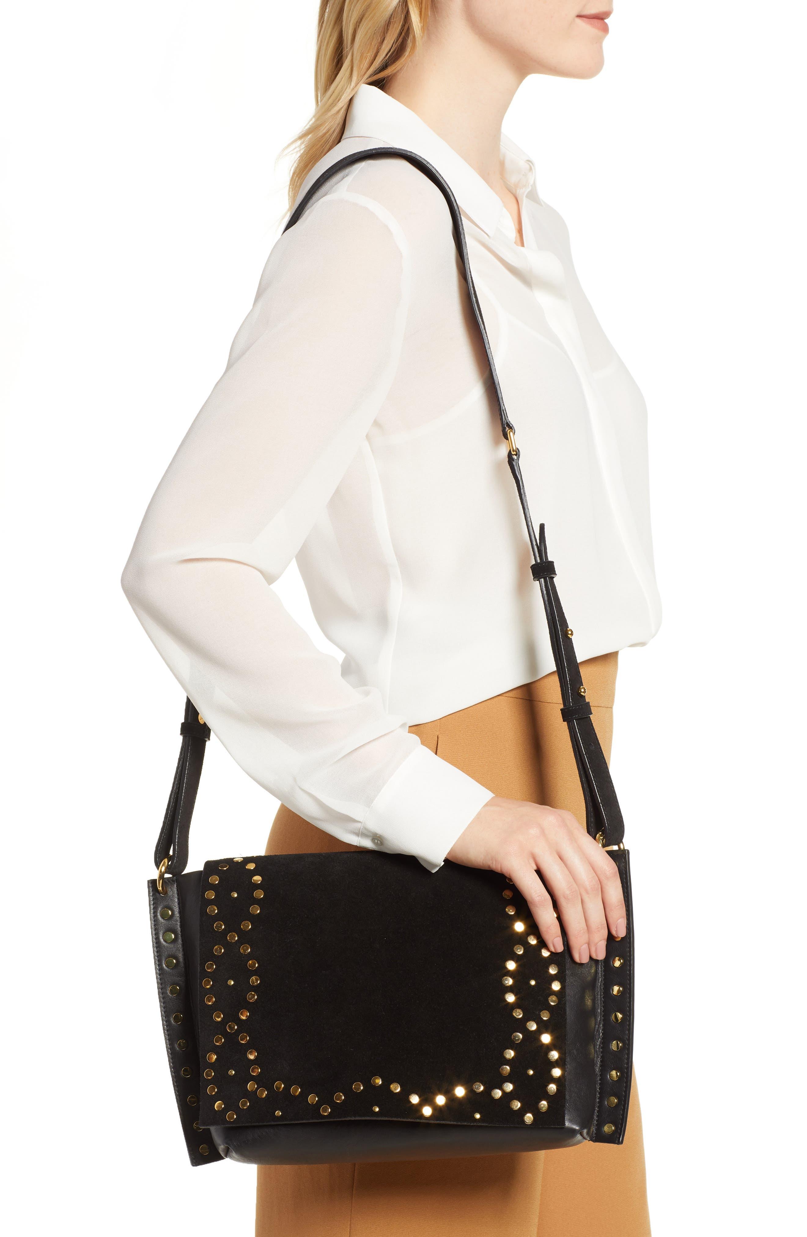 Asli Zoe Studded Shoulder Bag,                             Alternate thumbnail 2, color,