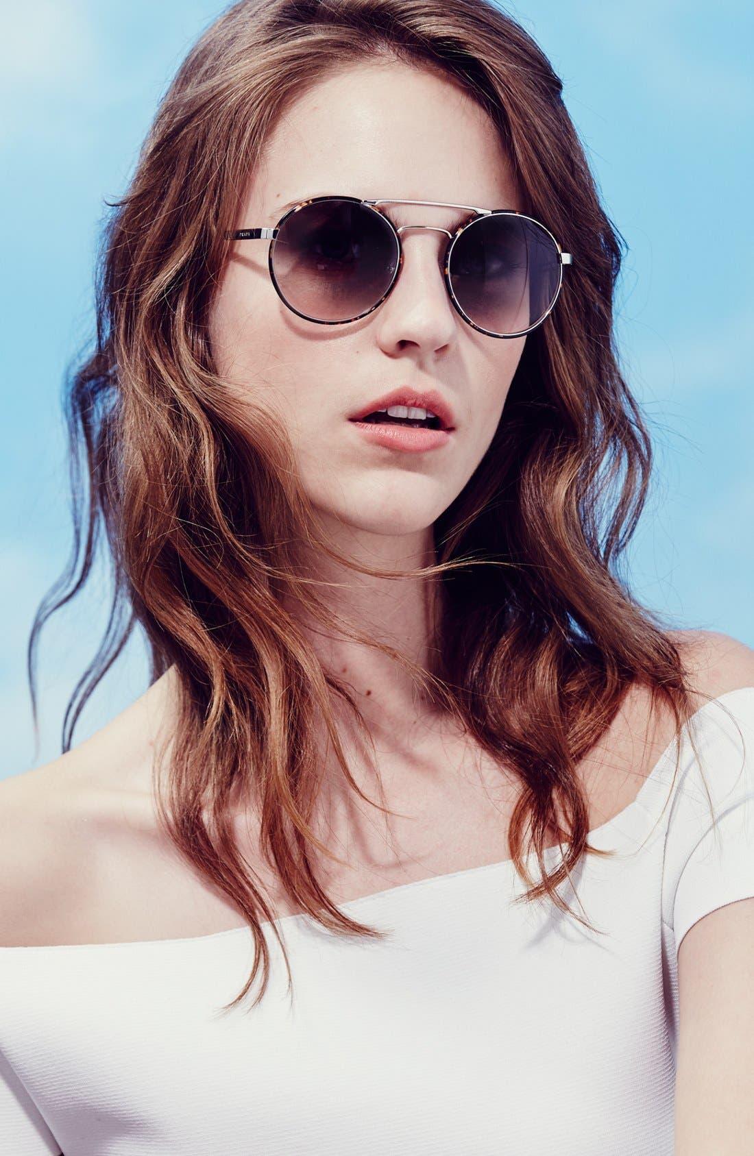 'Cinemà' 54mm Round Sunglasses,                             Alternate thumbnail 3, color,                             001