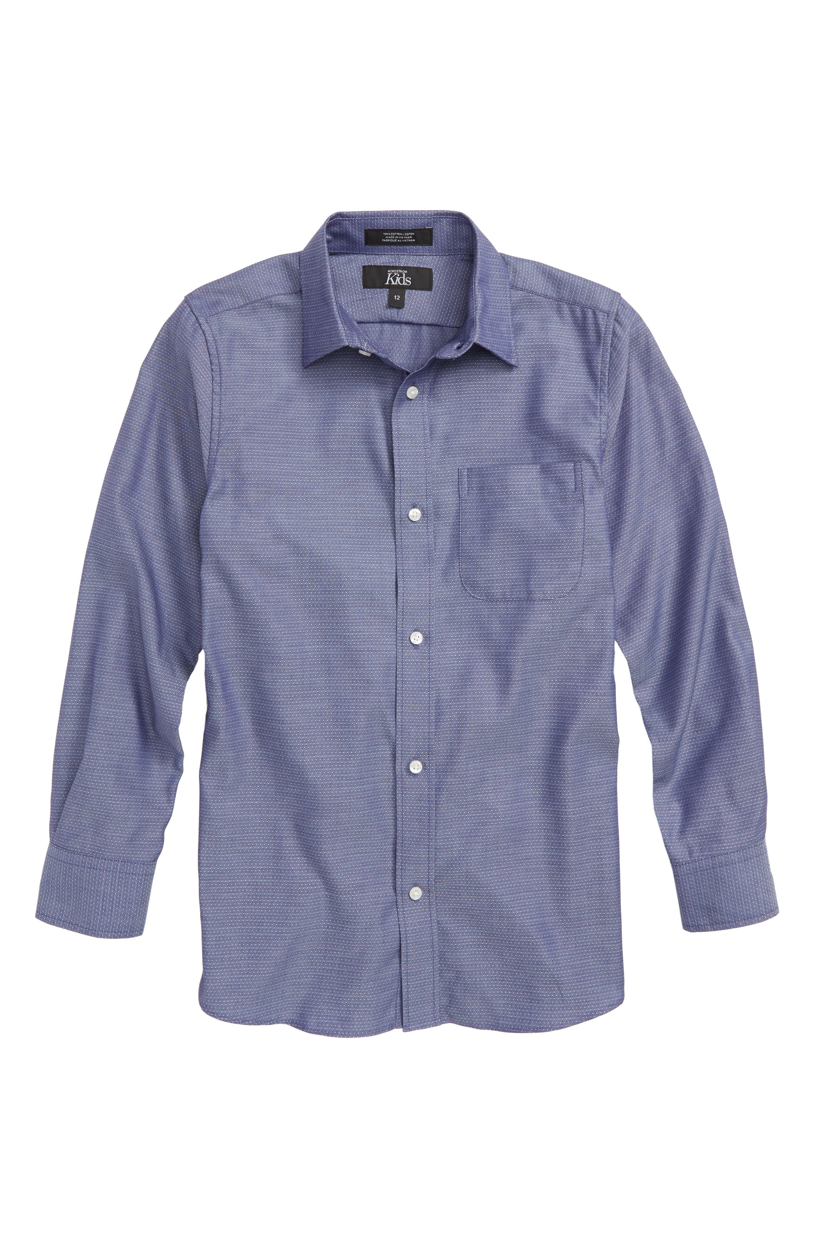 Skipper Dress Shirt,                         Main,                         color, NAVY SKIPPER