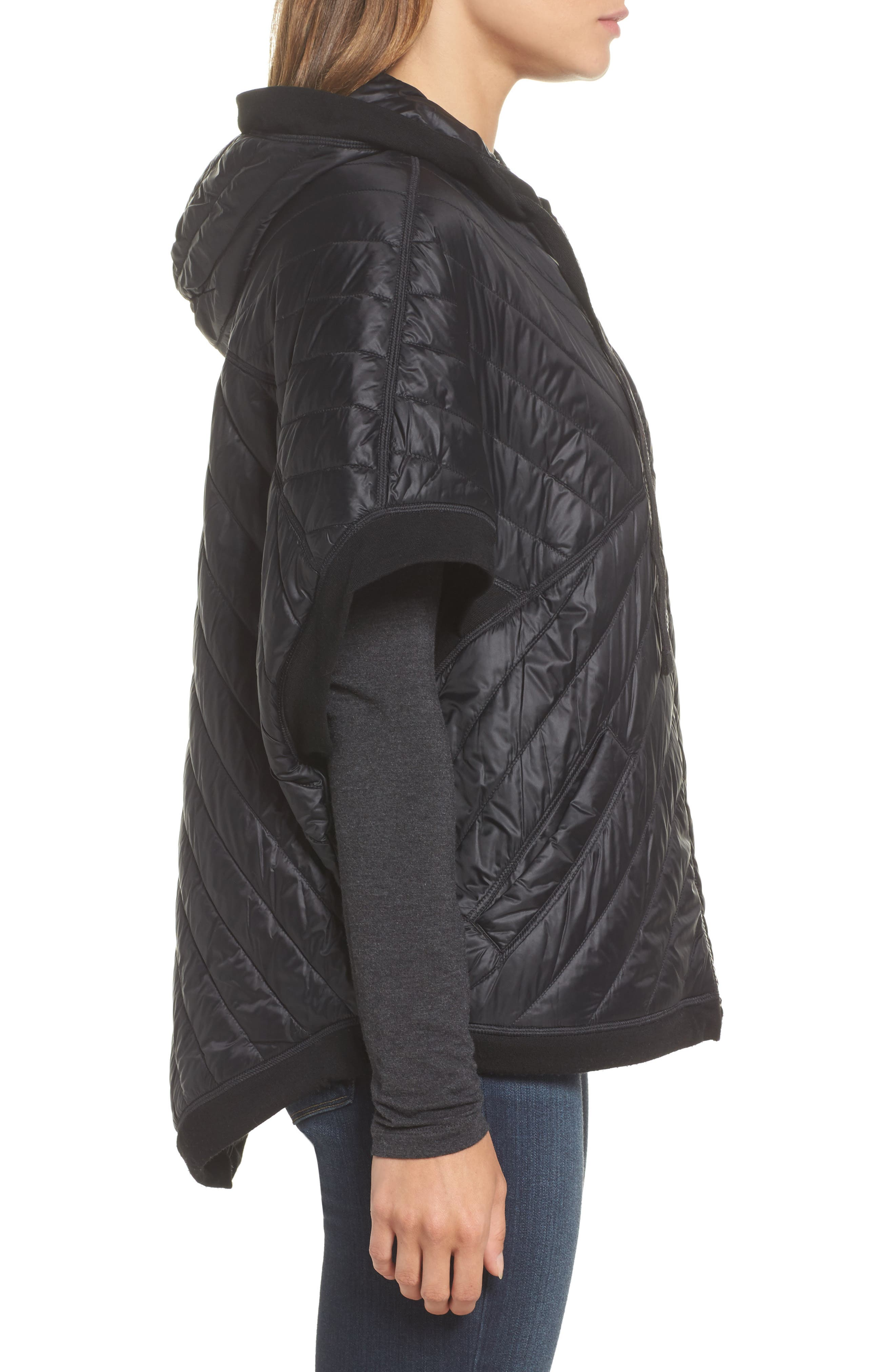 Urban Upslope Insulated Reversible Poncho,                             Alternate thumbnail 3, color,                             001