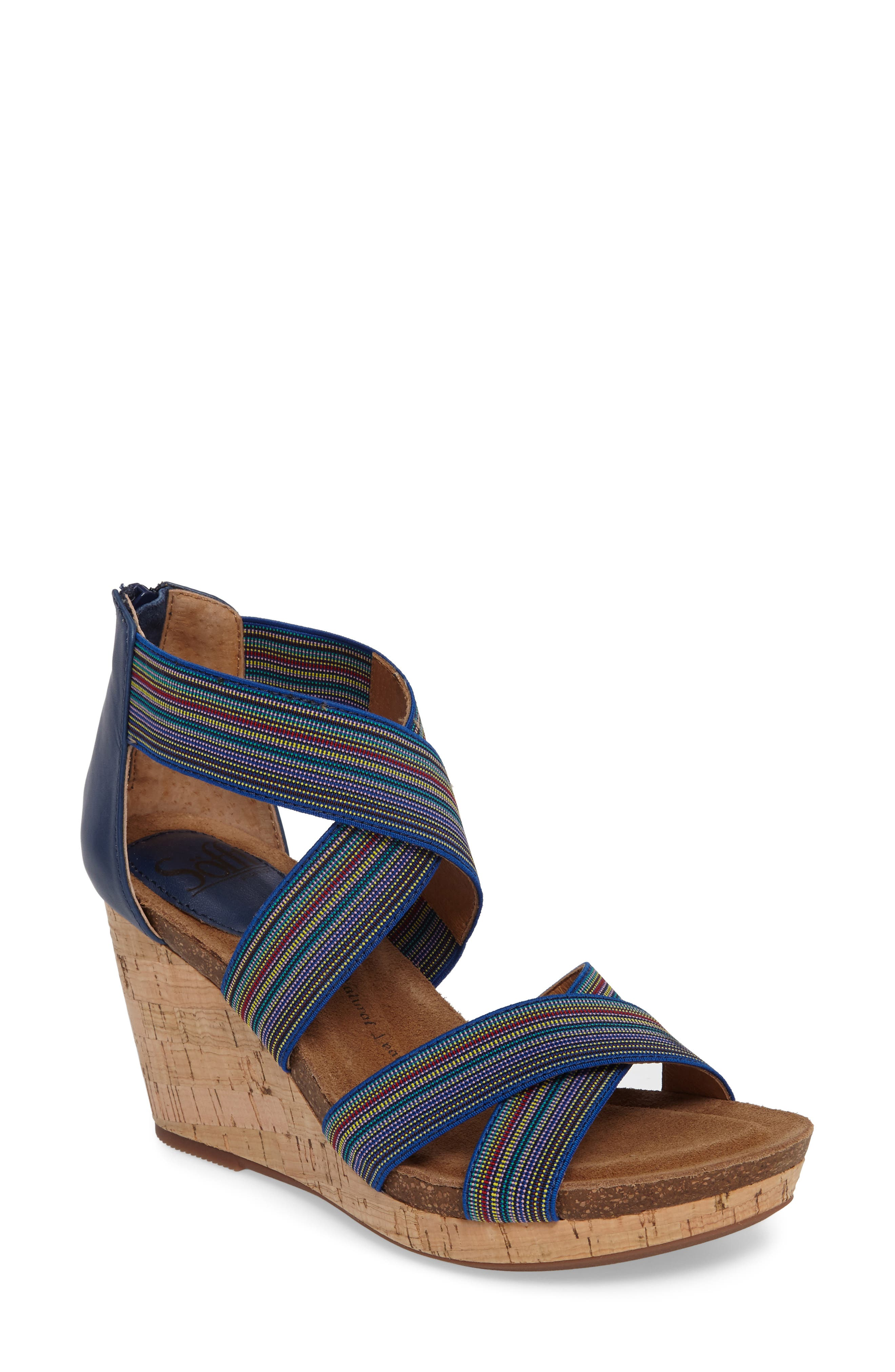Cary Cross Strap Wedge Sandal,                             Main thumbnail 2, color,