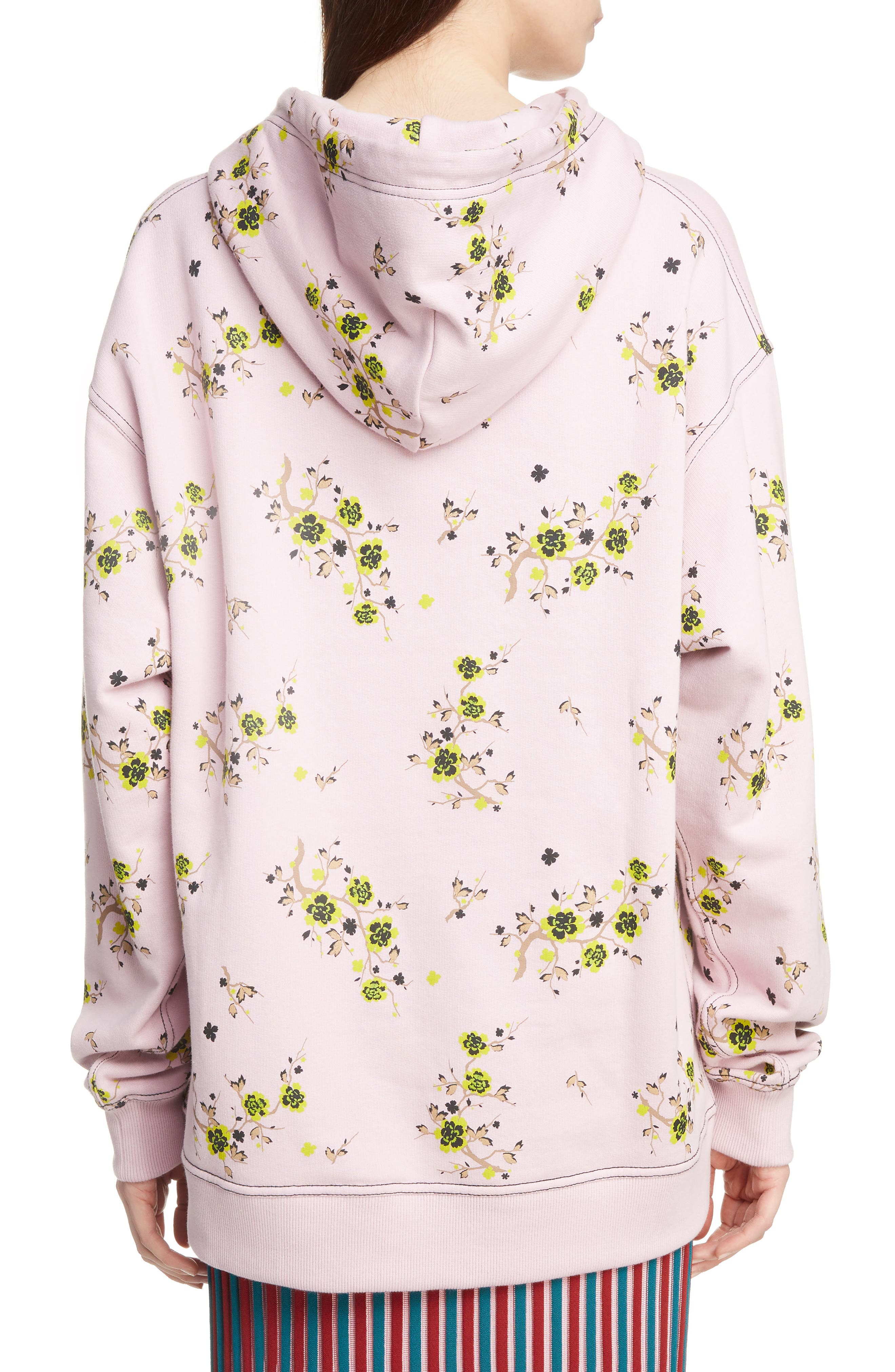 Oversize Floral Hoodie,                             Alternate thumbnail 2, color,                             683