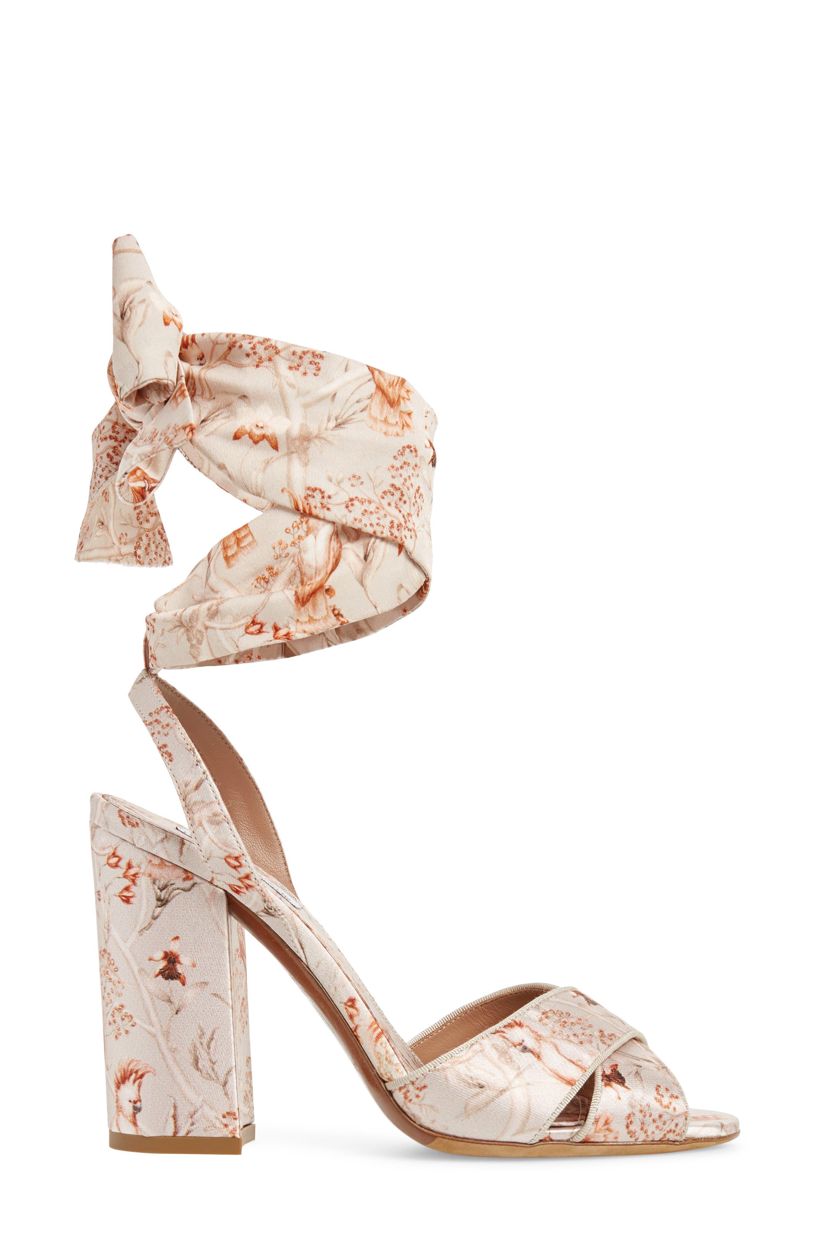 Connie Wrap Lace-Up Sandal,                             Alternate thumbnail 3, color,                             SAND