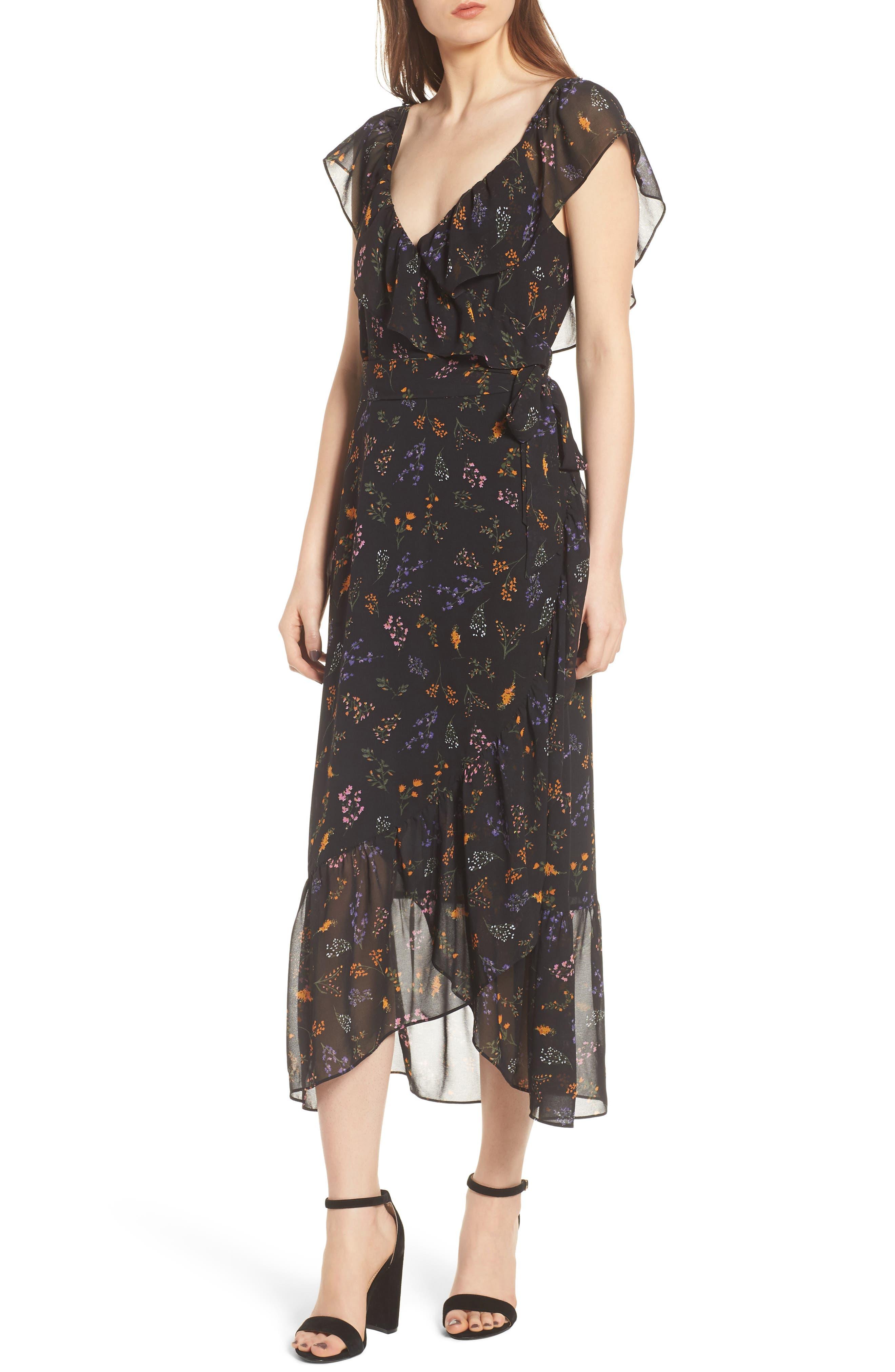 Jessica Wrap Dress,                             Alternate thumbnail 3, color,                             002