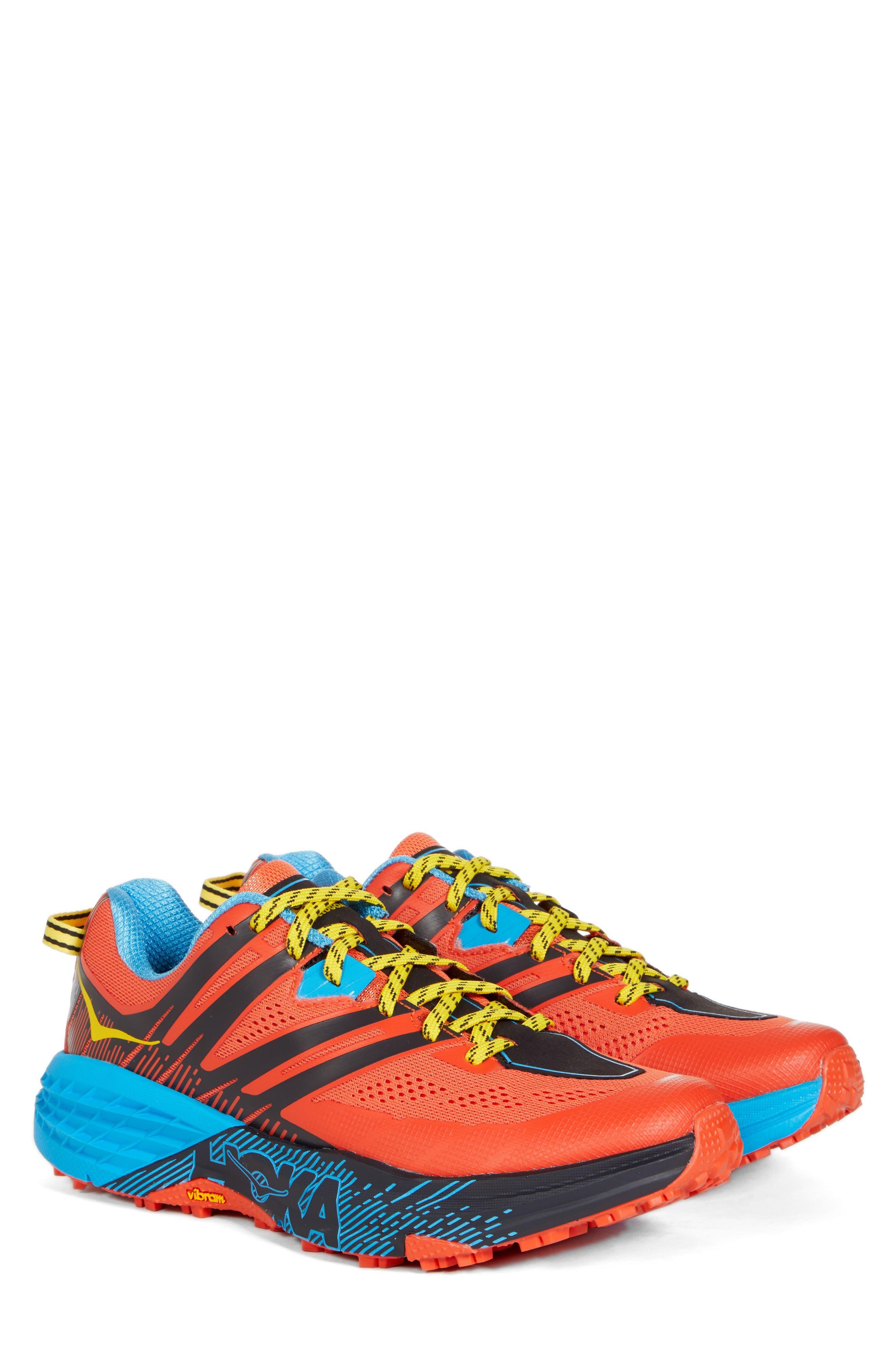 Speedgoat 3 Trail Running Shoe,                             Alternate thumbnail 2, color,                             NASTURTIUM/ SPICY ORANGE