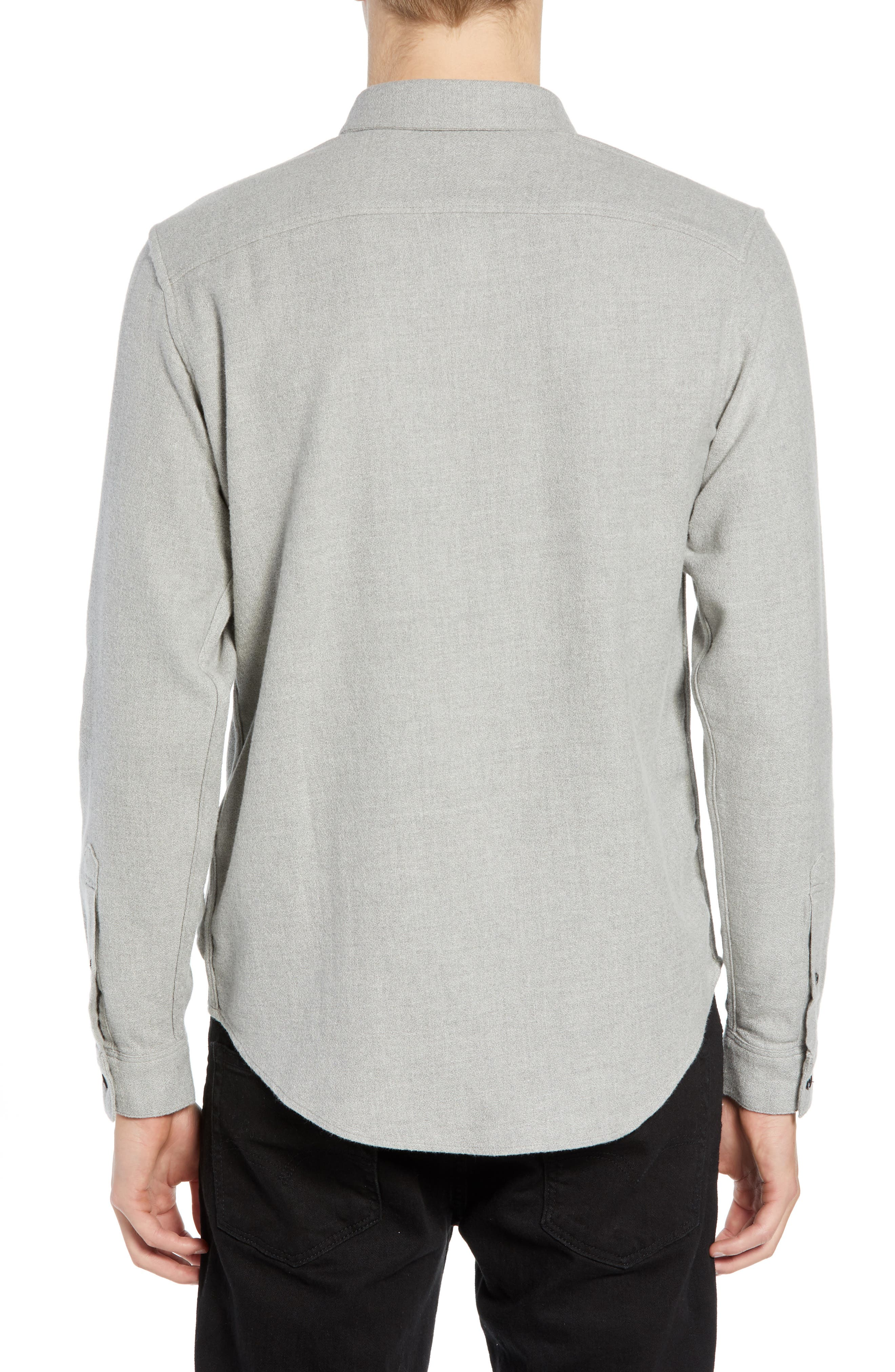 Levi's<sup>®</sup> Made & Crafted Regular Fit Mélange Shirt,                             Alternate thumbnail 3, color,                             020