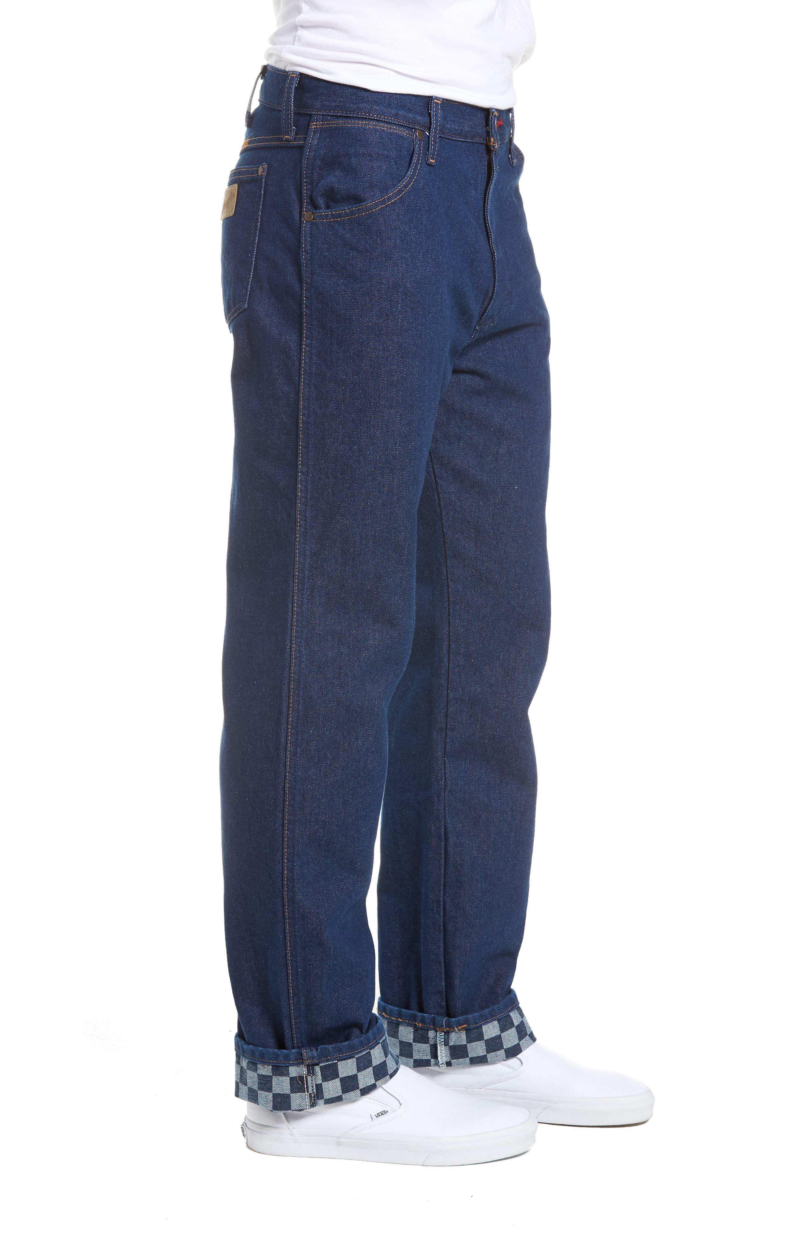 x Wrangler Straight Leg Jeans,                             Alternate thumbnail 3, color,                             PREWASH INDIGO