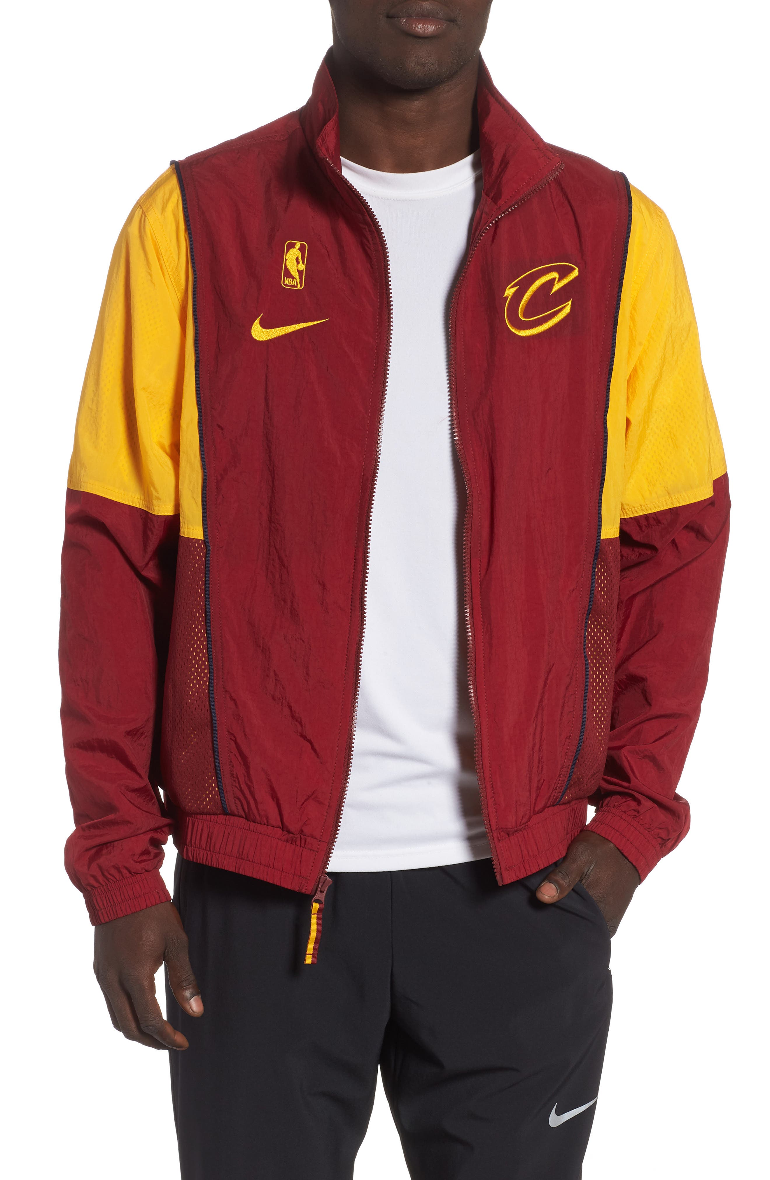 Cleveland Cavaliers Track Jacket,                         Main,                         color, TEAM RED/ UNIVERSITY GOLD