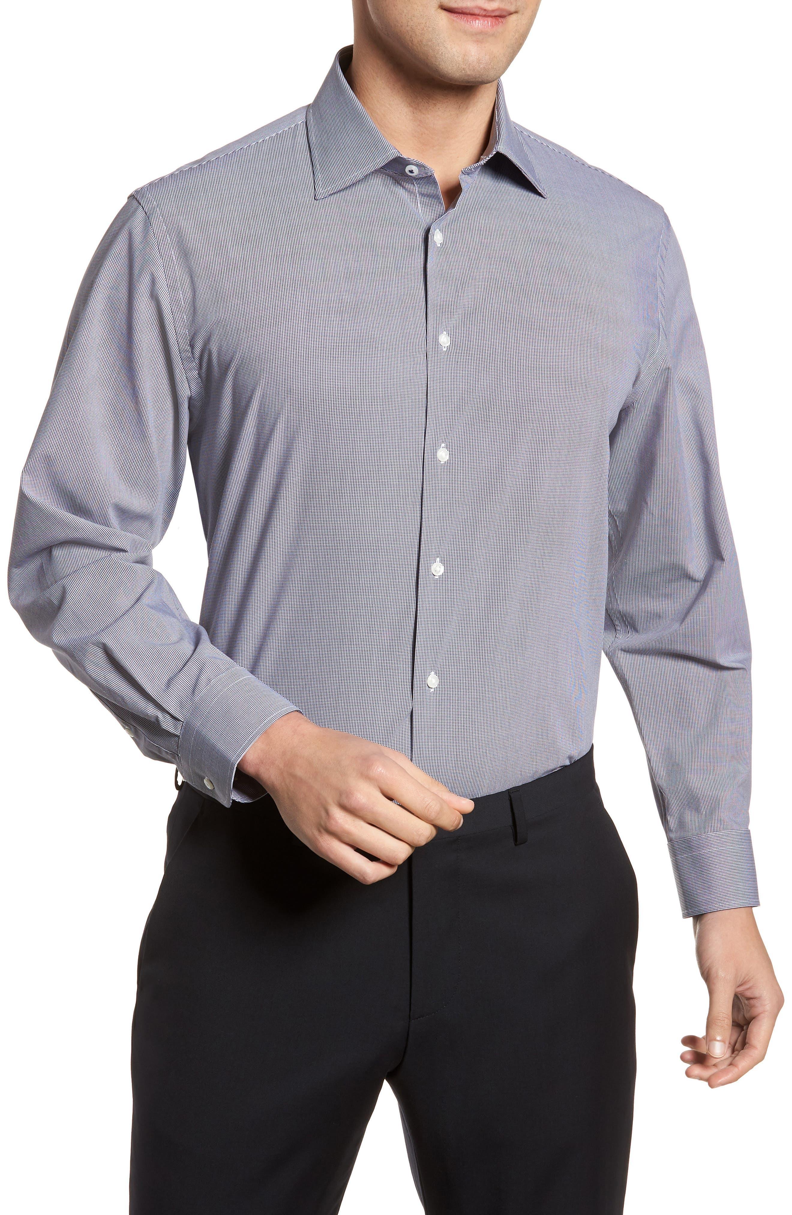 Tech-Smart Traditional Fit Stretch Microdot Dress Shirt,                             Main thumbnail 1, color,                             410